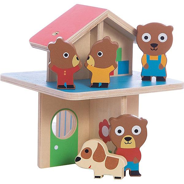 Игрушка Мини-дом, DJECOДомики для кукол<br>Игрушка Мини-дом, Djeco (Джеко) - чудесный игровой набор, который несомненно привлечет внимание Вашего малыша. В комплект входят двухэтажный домик для медвежат, четыре фигурки забавных мишек и их питомец - пятнистый щенок. В красочном домике медвежатам уютно и весело живется, есть ванная комната и просторная гостиная. Все детали набора изготовлены из высококачественного, экологически чистого материала - дерева и абсолютно безопасны для детей. Набор прекрасно подойдет для сюжетно-ролевых игр. Способствует развитию фантазии, воображения, тактильного и цветового восприятия, тренирует мелкую моторику. <br><br>Дополнительная информация:<br><br>- В комплекте: домик, 4 фигурки медвежат, 1 фигурка щенка.<br>- Материал: дерево.<br>- Высота домика: 18 см.<br>- Размер упаковки: 18 х 16 х 15,5 см.<br>- Вес: 0,435 кг.<br><br>Игрушку Мини-дом, Djeco (Джеко), можно купить в нашем магазине.<br>Ширина мм: 160; Глубина мм: 180; Высота мм: 160; Вес г: 490; Возраст от месяцев: 180; Возраст до месяцев: 540; Пол: Унисекс; Возраст: Детский; SKU: 4566298;
