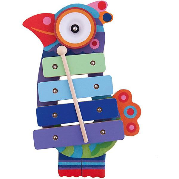 Ксилофон Кикукоко, DJECOДетские музыкальные инструменты<br>Чудесный красочный ксилофон Кикукоко, Djeco (Джеко), непременно понравится Вашему ребенку и поможет ему развить свои музыкальные способности. Ксилофон выполнен в виде яркой экзотической птицы с туловищем из разноцветных клавиш. В комплект также входит деревянная палочка, с помощью которой ребенок будет ударять по клавишам, создавая различные музыкальные композиции. У ксилофона мягкий, приглушенный звук, не вызывающий неприятных ощущений у окружающих. Игрушка изготовлена из безопасных высококачественных материалов. Игра на ксилофоне прекрасно развивает музыкальный слух, творческие способности, координацию движений и мелкую моторику ребенка.<br><br>Дополнительная информация:<br><br>- В комплекте: ксилофон, палочка.<br>- Материал: дерево, металл.<br>- Размер игрушки: 16 x 28 x 3,5 см.<br>- Размер упаковки: 18 х 28,3 х 4 см.<br>- Вес: 0,58 кг. <br><br>Ксилофон Кикукоко, Djeco (Джеко), можно ,купить в нашем магазине.<br>Ширина мм: 20; Глубина мм: 180; Высота мм: 40; Вес г: 580; Возраст от месяцев: 180; Возраст до месяцев: 540; Пол: Унисекс; Возраст: Детский; SKU: 4566300;