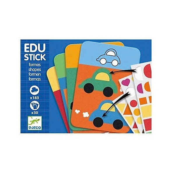 Игра Формы, DJECOНастольные игры для всей семьи<br>Увлекательная развивающая игра Формы привлечет внимание Вашего малыша и познакомит его с различными геометрическими формами. В комплекте Вы найдете красочные карточки с интересными для ребенка заданиями и листы с яркими наклейками. На каждой карточке изображен какой-либо предмет у которого отсутствует деталь. Например, домик без квадратной крыши или божья коровка без круглых пятнышек на панцире. Малышу нужно найти наклейки с потерянной деталью и приклеить к рисунку. А чтобы ребенку легче было определить, каких именно частей не хватает, в задании эти фигуры обозначены белым цветом. Игра обучает ребенка разным формам, развивает логическое мышление и сообразительность, тренирует моторику детских ручек и учит малыша внимательности и усидчивости. Для детей 4-6 лет.<br><br>Дополнительная информация:<br><br>- В комплекте: 30 карт с иллюстрированными заданиями, 194 наклейки с разноцветными фигурами. <br>- Материал: ламинированный картон, бумага<br>- Размер упаковки: 21 х 16 х 2 см.<br>- Вес: 0,14 кг.<br><br>Игру Формы, Djeco (Джеко), можно ,купить в нашем магазине.<br>Ширина мм: 10; Глубина мм: 210; Высота мм: 160; Вес г: 270; Возраст от месяцев: 36; Возраст до месяцев: 72; Пол: Унисекс; Возраст: Детский; SKU: 4566305;
