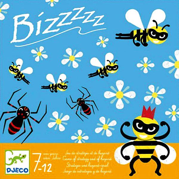 Игра Бззззз, DJECOСтратегические настольные игры<br>Игра Бззззз, Djeco (Джеко) - увлекательная стратегическая игра, которая надолго займет внимание детей и не даст им заскучать. Игра рассчитана на двух игроков. Цель игры состоит в том, чтобы пчелки сделали как можно больше мёда, а вредные паучки им не помешали. Каждый из участников по очереди бросает кубик, стараясь при этом, чтобы пчелки из его улья собрали нектар с наибольшего количества цветов. Одновременно игроки пытаются помешать друг другу с помощью злобных паучков. Набор оформлен в яркую подарочную коробочку. Игра отлично развивает внимательность, стратегические и логические способности.<br><br>Дополнительная информация:<br><br>- В комплекте: 1 игровое поле, 31 фишка с пчелками, другими насекомыми и цветочками, 1 деревянный кубик.<br>- Материал: картон, дерево<br>- Размер упаковки: 21,5 х 21,5 х 3 см.<br><br>Игру Бззззз, Djeco (Джеко), можно купить в нашем магазине.<br>Ширина мм: 40; Глубина мм: 220; Высота мм: 220; Вес г: 540; Возраст от месяцев: 84; Возраст до месяцев: 120; Пол: Унисекс; Возраст: Детский; SKU: 4566308;