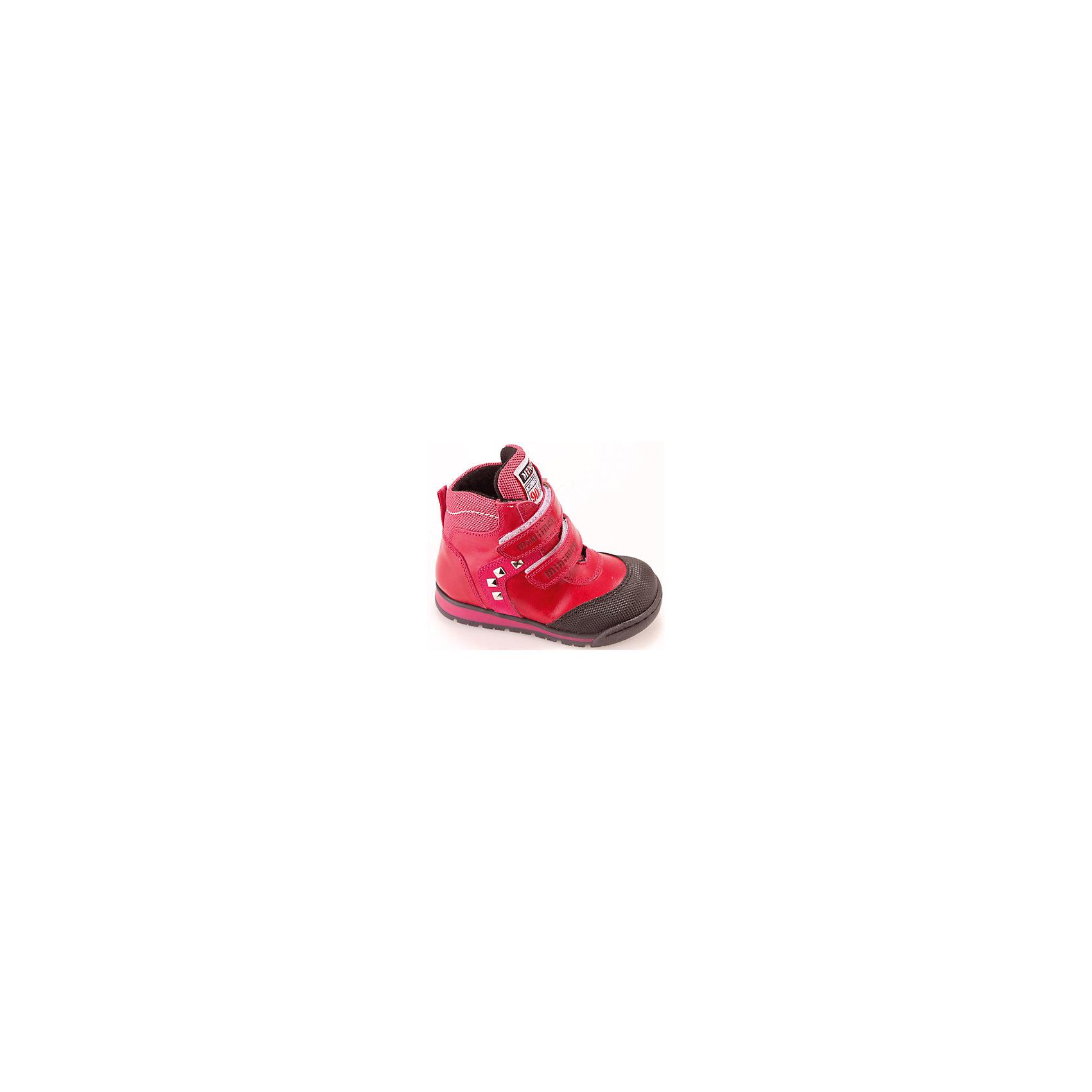 Ботинки для девочки MinimenОбувь для малышей<br>Состав: верх-кожа100%,подклад-текстиль,подошва-Полиуретан<br><br>Ширина мм: 262<br>Глубина мм: 176<br>Высота мм: 97<br>Вес г: 427<br>Цвет: фуксия<br>Возраст от месяцев: 12<br>Возраст до месяцев: 15<br>Пол: Женский<br>Возраст: Детский<br>Размер: 21,24,23,20,22<br>SKU: 4573135