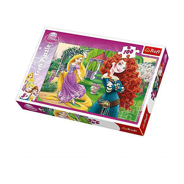 Пазл Веселые принцессы, 100 деталей, TreflПазлы для малышей<br>Необыкновенно красочный пазл с изображением двух задорных принцесс, несомненно, понравится маленьким девочкам, ведь как увлекательно собирать большую картинку из ста аккуратных деталей! <br>Элементы пазла сделаны из плотного экологически чистого картона, поэтому они не ломаются, не гнутся и совершенно безопасны для детей. Складывание головоломки развивает память, внимательность, мелкую моторику и воображение, улучшает логические навыки, воспитывает усидчивость и аккуратность, что немаловажно для юных школьников. <br>Польская компания Trefl приглашает вас провести время с веселыми принцессами и насладиться приятными на ощупь деталями!<br><br>Дополнительная информация:<br><br>Количество деталей: 100<br>Размер готового изображения: 41 x 28 см.<br><br>Пазл Веселые принцессы, 100 деталей, Trefl можно купить в нашем магазине.<br><br>Ширина мм: 193<br>Глубина мм: 288<br>Высота мм: 41<br>Вес г: 310<br>Возраст от месяцев: 60<br>Возраст до месяцев: 120<br>Пол: Женский<br>Возраст: Детский<br>SKU: 4574019