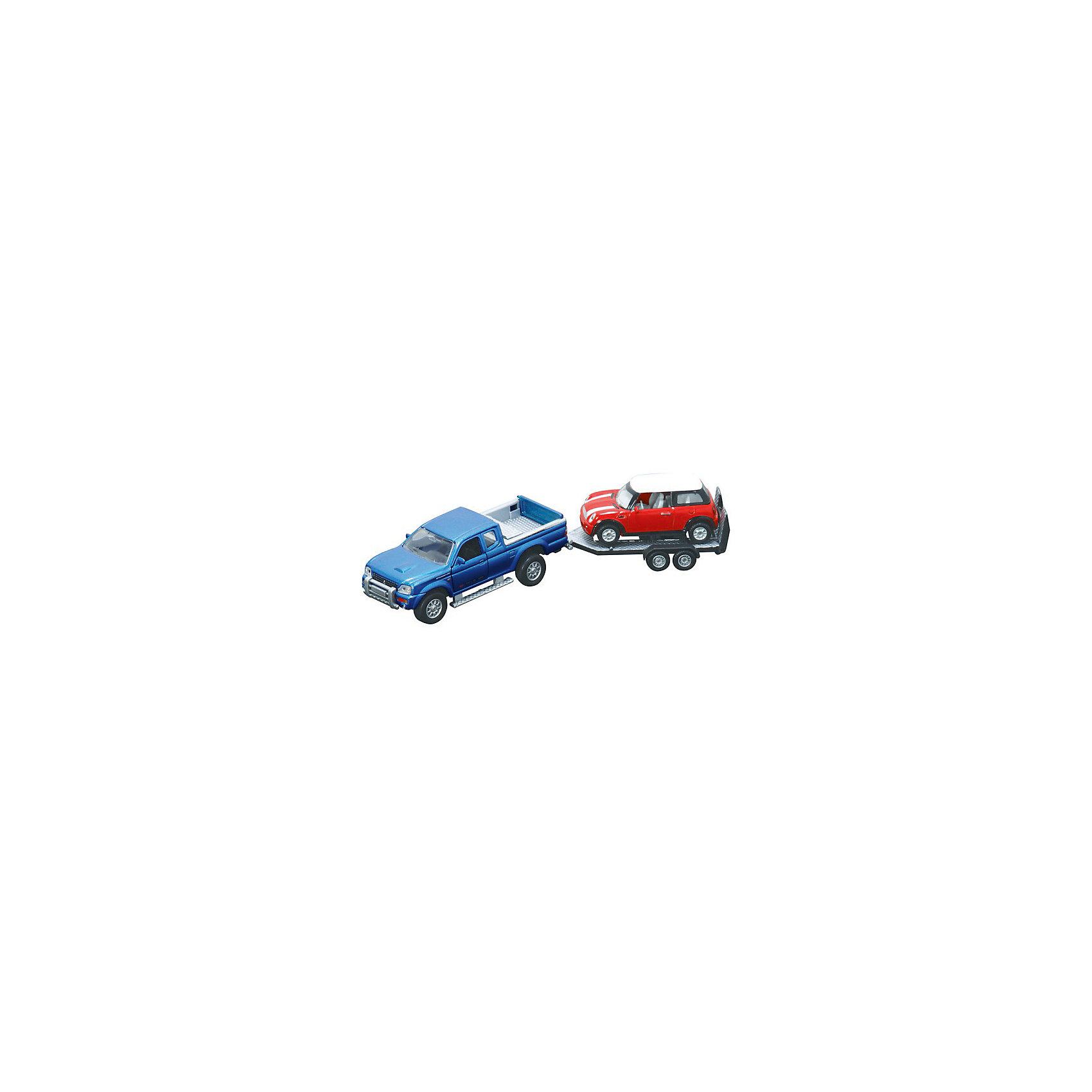 Машинки с прицепом, HTl GrоuрБольше всего мальчишки любят играть с машинками. Даже во взрослом. Сознательном возрасте. Просто с годами растут запросы к размерам автомобилей. Для детей от 3 лет прекрасным вариантом станет игровой набор от HTI Эвакуатор с прицепом и мини-Купером. <br>Машинки в масштабе 1:43, и 1:32 на Ваш выбор- выполнены из высококачественных материалов пластика с металлическими элементами. Он отвечает высочайшим европейским требованиям безопасности, поэтому смело можете давать его ребенку от 3 лет.<br>Машинки детализированы, поэтому игра с ними будет намного интереснее, чем с любыми другими. Такой набор станет отличным началом, либо прекрасным дополнением чудесной коллекции.<br><br>Машинки с прицепом, HTl Grоuр можно купить в нашем магазине.<br><br>Ширина мм: 29<br>Глубина мм: 7<br>Высота мм: 9<br>Вес г: 230<br>Возраст от месяцев: 36<br>Возраст до месяцев: 96<br>Пол: Мужской<br>Возраст: Детский<br>SKU: 4574033