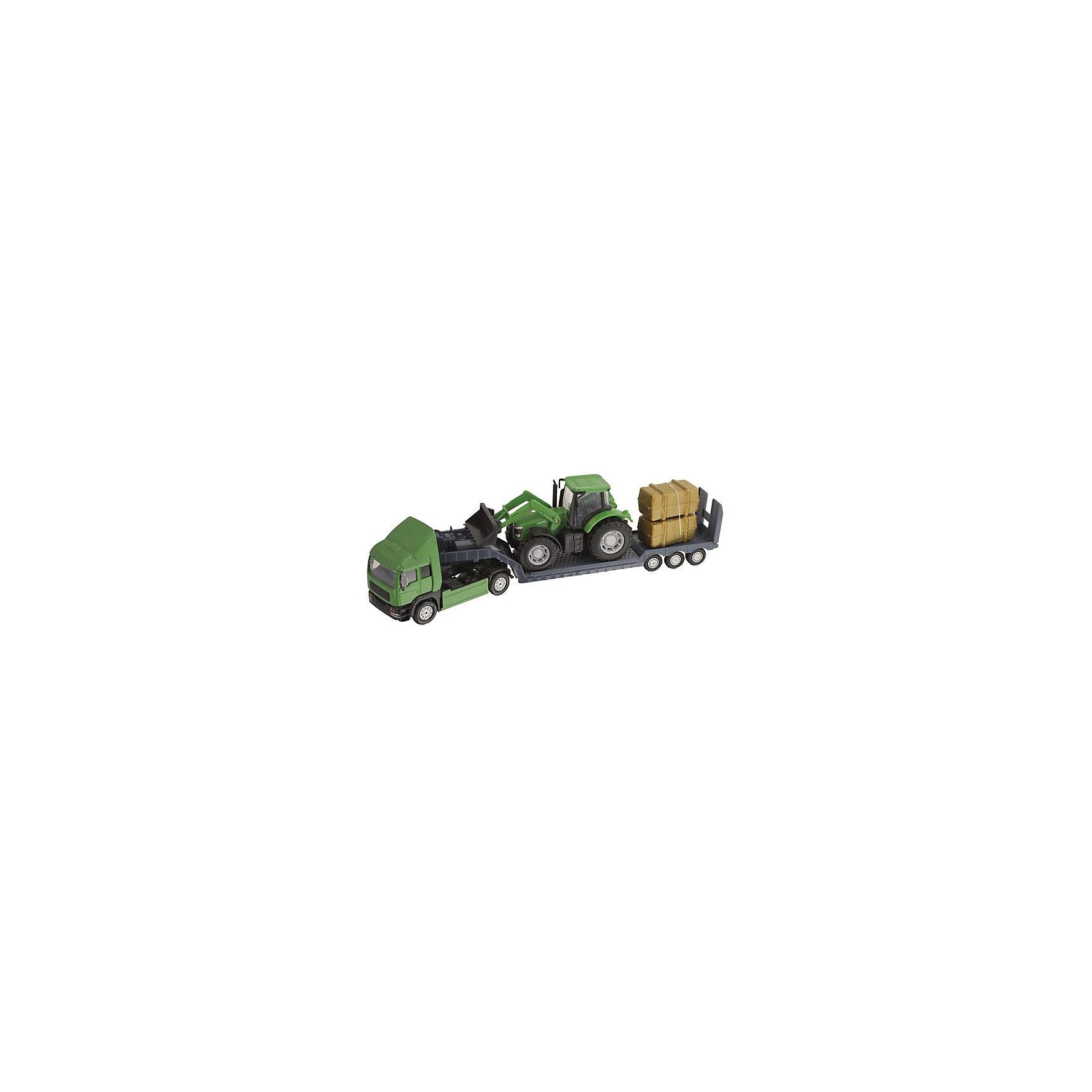 Грузовой автомобиль с трактором,  HTl GrоuрМашинки<br>Фермерский грузовой автомобиль от британского бренда HTI – это не просто очередная машинка в игрушечном гараже мальчишки. Это масштабная модель настоящего автомобиля. Высокая степень детализации, реалистичные цвета сделают ролевую игру наиболее увлекательной и познавательной для малыша от 3 лет. Кроме того, такой игровой набор сможет занять достойное место на полке коллекционера моделей.<br>Набор состоит из грузовика для перевозки техники, трактора, который предстоит перевозить и дополнительных материалов для транспортировки. <br><br>Дополнительная информация:<br><br>Комплект: грузовоз, трактор, 2 тюка сена.<br>Материал: пластик.<br>Размер: 7.3 x 10.8 x 34 см.<br><br>Грузовой автомобиль с трактором,  HTl Grоuр можно купить в нашем магазине.<br><br>Ширина мм: 34<br>Глубина мм: 7<br>Высота мм: 11<br>Вес г: 260<br>Возраст от месяцев: 36<br>Возраст до месяцев: 96<br>Пол: Мужской<br>Возраст: Детский<br>SKU: 4574040