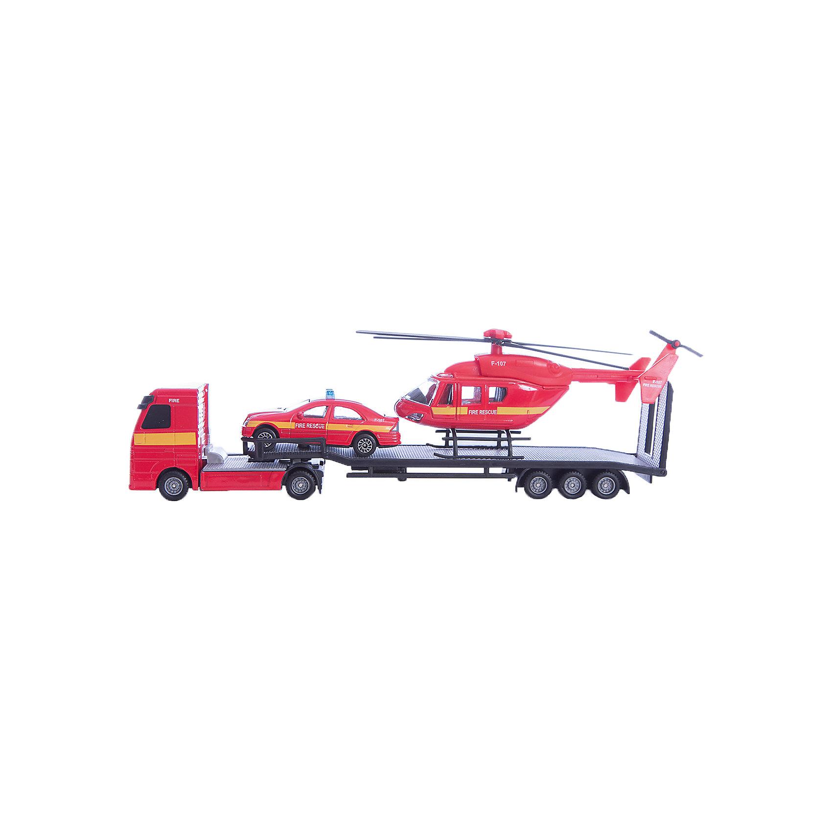 Перевозчик с машиной и вертолетом, HTl GrоuрИгровые наборы<br>Игра в машинки это не только прекрасное развлечение для мальчиков, но и способ развить моторику, опорно-двигательный аппарат, логическое мышление, координацию. Важно, чтобы игрушки были безопасны для малышей, качественно выполнены, чтобы не сломаться в первый же день и не вызвать слез и досады у ребенка. <br>Всем этим требованиям отвечают машинки компании HTI. Высокие европейские стандарты залог высокого качества. <br>Игровой набор «Транспортер строительной техники» это мини-копия грузовика, который везет в своем прицепе 2 маленьких трактора. Высокая степень детализации сделает игру интереснее, а яркий цвет поможет развить цветовое восприятие. <br><br>Дополнительная информация:<br><br>Комплект: перевозчик, легковой автомобиль, вертолет.<br>Материал: пластик.<br><br>Перевозчик с машиной и вертолетом, HTl Grоuр можно купить в нашем магазине.<br><br>Ширина мм: 29<br>Глубина мм: 5<br>Высота мм: 9<br>Вес г: 170<br>Возраст от месяцев: 36<br>Возраст до месяцев: 96<br>Пол: Мужской<br>Возраст: Детский<br>SKU: 4574042