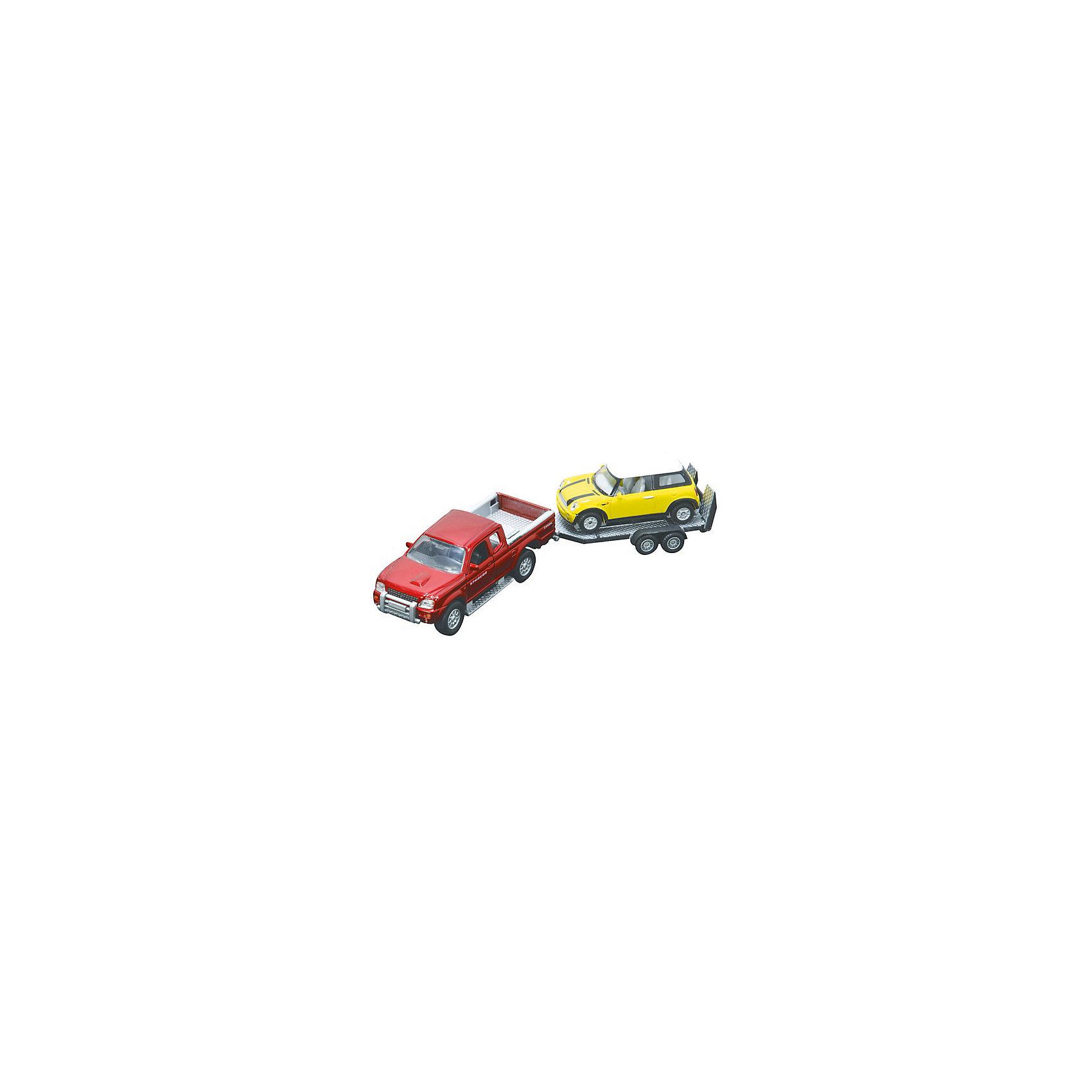 HTI Машинки с прицепом, HTl Grоuр машинки globo набор автопоезд с прицепом и животным