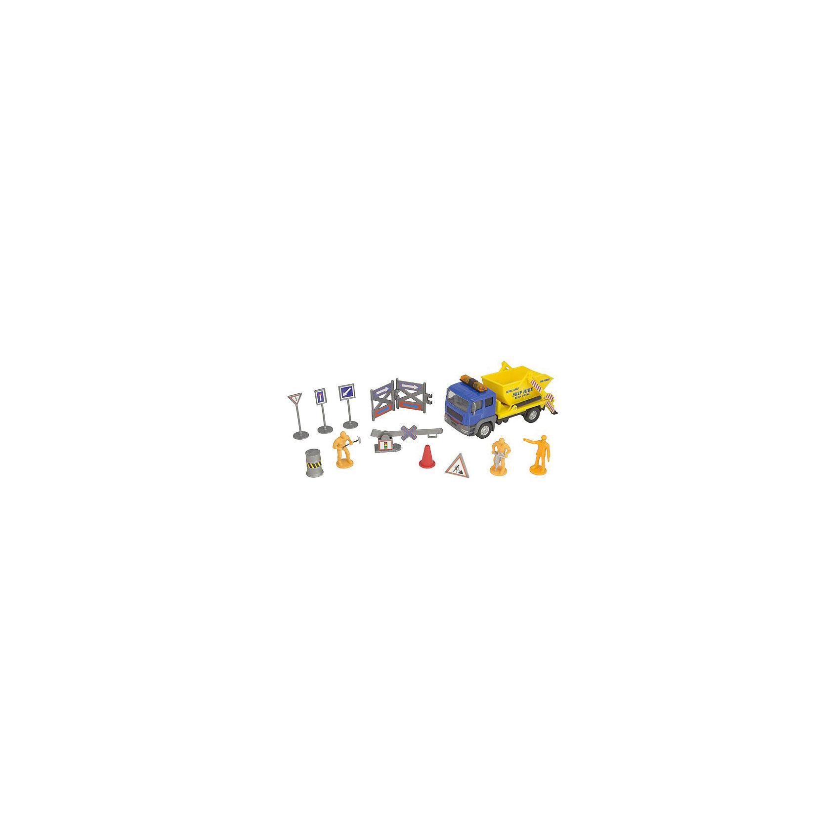 Строительная команда с грузовиком, HTl GrоuрМашинки<br>Строительство и автомобили – две темы, которые волнуют большинство мужчин с самого рождения. Обладать собственной строительной командой с соответствующей техникой – неимоверная радость для любого мальчишки! Пусть даже это будет сильно уменьшенная копия.<br>Британский бренд HTI предлагает набор «Строительная команда» в трех вариантах. Два варианта с грузовиками разных цветов и один с экскаватором. Модели машин максимально детализированы и имеют множество подвижных частей. Фигурки рабочих с аксессуарами сделают ролевую игру максимально приближенной к реальности. Такой набор рекомендуется детям с 3 лет, но сможет занять достойное место в коллекции моделей взрослого человека.<br><br>Дополнительная информация:<br><br>Комплект: грузовик, 3 фигурки рабочих, аксессуары.<br>Материал: пластик.<br>Размер упаковки: 10.2 х 11.5 х 36.2 см.<br><br>Строительная команда с грузовиком, HTl Grоuр можно купить в нашем магазине.<br><br>Ширина мм: 36<br>Глубина мм: 10<br>Высота мм: 12<br>Вес г: 150<br>Возраст от месяцев: 36<br>Возраст до месяцев: 96<br>Пол: Мужской<br>Возраст: Детский<br>SKU: 4574053