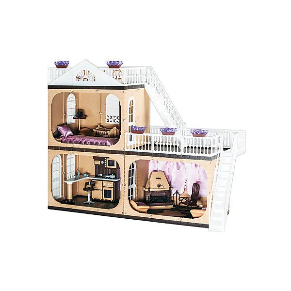 Коттедж Коллекция, без мебели, ОгонекДомики для кукол<br>Характеристики товара:<br><br>• возраст: от 3 лет;<br>• материал: пластик;<br>• в комплекте: дом, горшки с цветами, шторы;<br>• подходит для кукол высотой до 30 см;<br>• размер домика: 105х33х90 см;<br>• вес домика: 7 кг;<br>• размер упаковки: 43х23х38 см;<br>• вес упаковки: 8 кг;<br>• страна производитель: Россия.<br><br>Коттедж «Коллекция» Огонек без мебели — настоящий домик для любимой куколки девочки. Дом подойдет для кукол до 30 см. Коттедж состоит из 3 комнат и 2 террас для летнего отдыха. На окнах висят шторы. Террасы окружены ажурными ограждениями. На каждую террасу ведут белоснежные лестницы. Дом изготовлен из качественного прочного пластика.<br><br>Коттедж «Коллекция» Огонек без мебели можно приобрести в нашем интернет-магазине.<br><br>Ширина мм: 430<br>Глубина мм: 380<br>Высота мм: 230<br>Вес г: 7000<br>Возраст от месяцев: 36<br>Возраст до месяцев: 2147483647<br>Пол: Женский<br>Возраст: Детский<br>SKU: 4575880