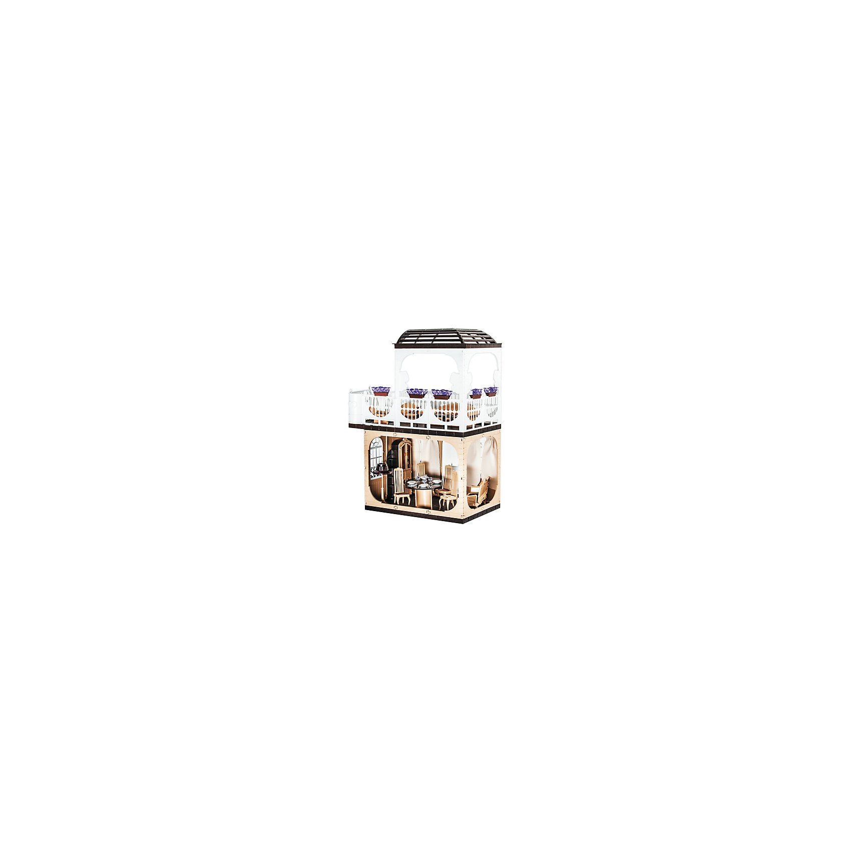 Дом Коллекция, без мебели, ОгонекДомики и мебель<br>Характеристики товара:<br><br>• возраст: от 3 лет;<br>• материал: пластик;<br>• в комплекте: дом, горшки с цветами;<br>• подходит для кукол высотой до 30 см;<br>• размер домика: 120х82х33 см;<br>• размер упаковки: 35х23х15 см;<br>• вес упаковки: 5 кг;<br>• страна производитель: Россия.<br><br>Дом «Коллекция» Огонек без мебели — настоящий домик для любимой куколки девочки. Дом подойдет для кукол до 30 см. Дом состоит из двух этажей. На первом этаже комната, а на втором открытая терраса с куполом для летнего отдыха. Терраса окружена ажурными ограждениями. Дом изготовлен из качественного прочного пластика.<br><br>Дом «Коллекция» Огонек без мебели можно приобрести в нашем интернет-магазине.<br><br>Ширина мм: 235<br>Глубина мм: 150<br>Высота мм: 350<br>Вес г: 5000<br>Возраст от месяцев: 36<br>Возраст до месяцев: 2147483647<br>Пол: Женский<br>Возраст: Детский<br>SKU: 4575881