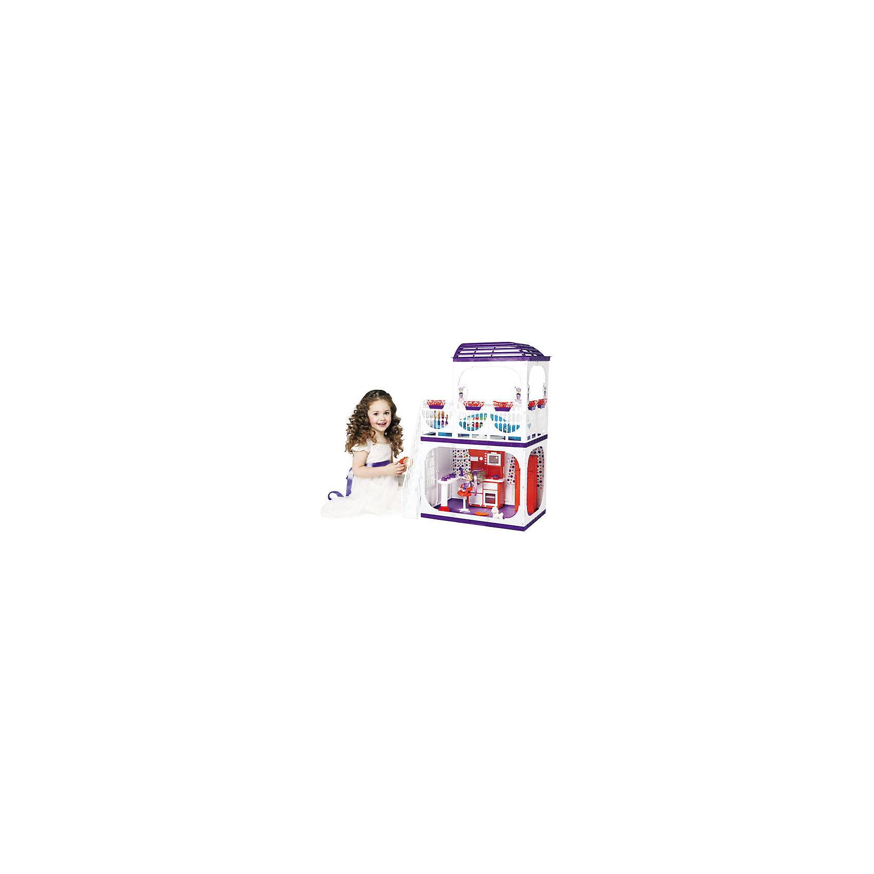 Дом для кукол Barbie Конфетти, ОгонекДомики и мебель<br>Характеристики товара:<br><br>• возраст: от 3 лет;<br>• материал: пластик;<br>• в комплекте: дом, горшки с цветами;<br>• подходит для кукол высотой до 30 см;<br>• размер домика: 120х82х33 см;<br>• размер упаковки: 35х23х15 см;<br>• вес упаковки: 5 кг;<br>• страна производитель: Россия.<br><br>Дом для кукол Barbie «Конфетти» Огонек без мебели — настоящий домик для любимой куколки девочки. Дом подойдет для кукол до 30 см. Дом состоит из двух этажей. На первом этаже комната, а на втором открытая терраса с куполом для летнего отдыха. Терраса окружена ажурными ограждениями. На террасу ведет белая лестница. Дом изготовлен из качественного прочного пластика.<br><br>Дом для кукол Barbie «Конфетти» Огонек без мебели можно приобрести в нашем интернет-магазине.<br><br>Ширина мм: 235<br>Глубина мм: 150<br>Высота мм: 350<br>Вес г: 5000<br>Возраст от месяцев: 36<br>Возраст до месяцев: 2147483647<br>Пол: Женский<br>Возраст: Детский<br>SKU: 4575888