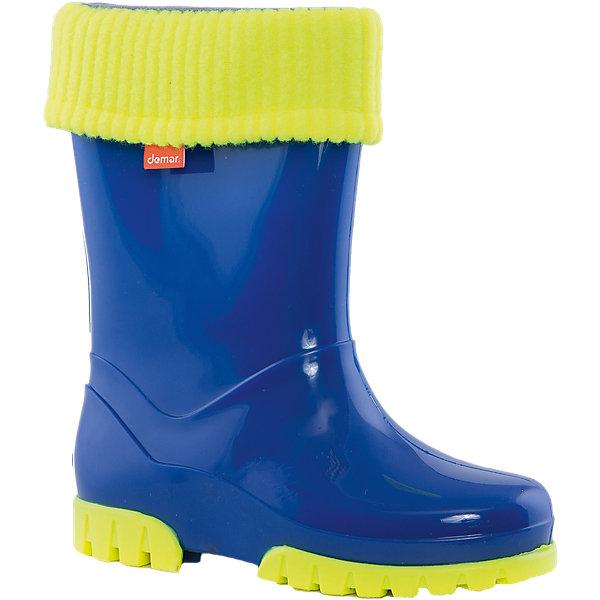 Резиновые сапоги Twister Lux Print для мальчика DEMARРезиновые сапоги<br>Характеристики товара:<br><br>• цвет: синий<br>• материал верха: ПВХ<br>• материал подкладки: текстиль <br>• материал подошвы: ПВХ<br>• температурный режим: от 0° до +15° С<br>• верх не продувается<br>• съемный чулок<br>• стильный дизайн<br>• страна бренда: Польша<br>• страна изготовитель: Польша<br><br>Осенью и весной ребенку не обойтись без непромокаемых сапожек! Чтобы не пропустить главные удовольствия межсезонья, нужно запастись удобной обувью. Такие сапожки обеспечат ребенку необходимый для активного отдыха комфорт, а подкладка из текстиля позволит ножкам оставаться теплыми. Сапожки легко надеваются и снимаются, отлично сидят на ноге. Они удивительно легкие!<br>Обувь от польского бренда Demar - это качественные товары, созданные с применением новейших технологий и с использованием как натуральных, так и высокотехнологичных материалов. Обувь отличается стильным дизайном и продуманной конструкцией. Изделие производится из качественных и проверенных материалов, которые безопасны для детей.<br><br>Сапожки от бренда Demar (Демар) можно купить в нашем интернет-магазине.<br><br>Ширина мм: 257<br>Глубина мм: 180<br>Высота мм: 130<br>Вес г: 420<br>Цвет: белый<br>Возраст от месяцев: 96<br>Возраст до месяцев: 108<br>Пол: Мужской<br>Возраст: Детский<br>Размер: 32/33,28/29,30/31,34/35<br>SKU: 4576060