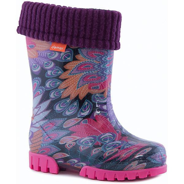 Купить Резиновые сапоги Twister Lux Print для девочки DEMAR, Польша, лиловый, 26/27, 30/31, 32/33, 34/35, 28/29, 22/23, 24/25, Женский