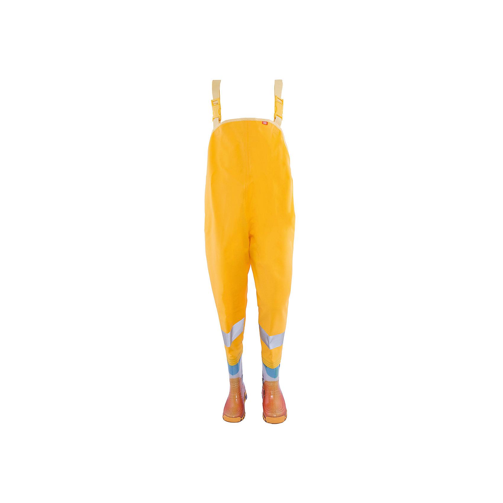 Комбинезон  DEMARХарактеристики товара:<br><br>• цвет: желтый<br>• материал верха: ПВХ<br>• материал подкладки: текстиль <br>• материал подошвы: ПВХ<br>• температурный режим: от 0° до +15° С<br>• верх не продувается, пропитка от грязи и влаги<br>• анискользящая подошва<br>• регулируемые лямки<br>• усиленные пятка и носок<br>• страна бренда: Польша<br>• страна изготовитель: Польша<br><br>Осенью и весной, а также зимой, ребенку не обойтись без удобных сапожек! Чтобы не пропустить главные удовольствия межсезонья, нужно запастись удобной обувью. Эта модель свомещает в себе резиновые сапоги и непромокаемый комбинезон! Он обеспечит ребенку необходимый для активного отдыха комфорт, а подкладка из текстиля позволит ножкам оставаться теплыми. Комбинезон можно регулировать по размеру благодаря лямкам.<br>Продукция от польского бренда Demar - это качественные товары, созданные с применением новейших технологий и с использованием как натуральных, так и высокотехнологичных материалов. Обувь отличается стильным дизайном и продуманной конструкцией. Изделие производится из качественных и проверенных материалов, которые безопасны для детей.<br><br>Комбинезон от бренда Demar (Демар) можно купить в нашем интернет-магазине.<br><br>Ширина мм: 237<br>Глубина мм: 180<br>Высота мм: 152<br>Вес г: 438<br>Цвет: желтый<br>Возраст от месяцев: 72<br>Возраст до месяцев: 84<br>Пол: Унисекс<br>Возраст: Детский<br>Размер: 30/31,34/35,26/27,28/29,32/33<br>SKU: 4576161