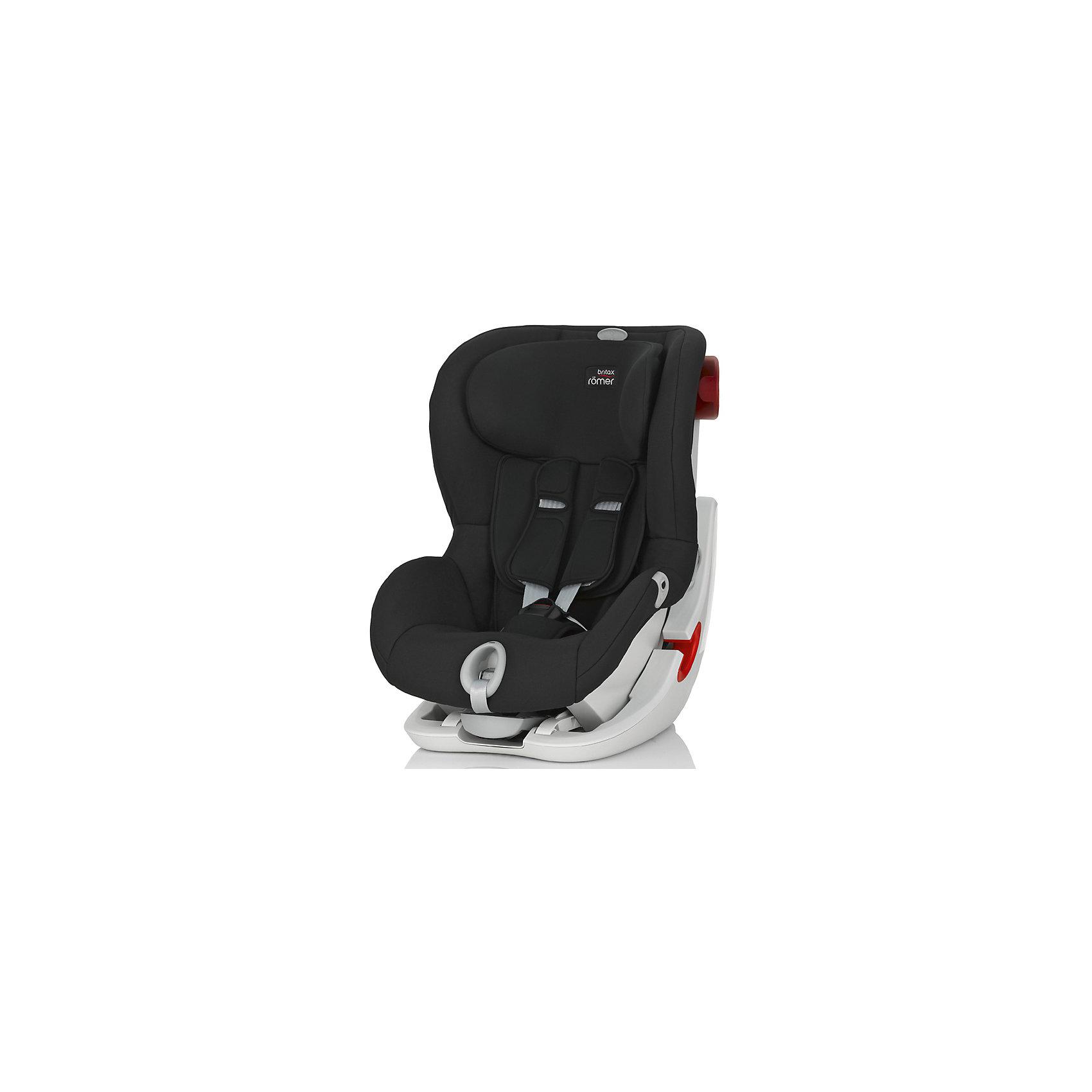 Автокресло Britax Romer KING II LS, 9-18 кг, Cosmos Black TrendlineГруппа 1 (От 9 до 18 кг)<br>Автокресло King II LS оснащено уникальной системой световой индикации натяжения ремня безопасности и складывающимся вперед сиденьем для удобства установки. <br>- Установка в автомобиле с помощью штатного ремня безопасности<br>- Индикатор определяет уровень натяжения внутреннего ремня автокресла<br>- 5-точечные ремни безопасности, регулируемые одной рукой<br>- Угол наклона регулируется в 4-х положениях<br>- Система наклона кресла вперед обеспечивает улучшенный доступ и обзор при установке кресла в салоне автомобиля<br>- Глубокие мягкие боковины обеспечивают оптимальную защиту при боковых столкновениях<br>- Мягкие плечевые накладки на ремни для максимального комфорта<br>- Съемный моющийся чехол<br>- Батарейки включены в комплект поставки<br>- Размеры (Д / Ш / В): 54 х 45 х 67 см<br>- Размеры спинки сиденья (Д / Ш): 30 х 34 см<br>- Длина спинки: 55 см<br>- Вес: 10.3 кг<br><br>Автокресло KING II LS, 9-18 кг., BRITAX ROMER (Бритакс Ремер), Cosmos Black Trendline можно купить в нашем магазине.<br><br>Ширина мм: 540<br>Глубина мм: 450<br>Высота мм: 680<br>Вес г: 10500<br>Цвет: черный<br>Возраст от месяцев: 9<br>Возраст до месяцев: 48<br>Пол: Унисекс<br>Возраст: Детский<br>SKU: 4576176