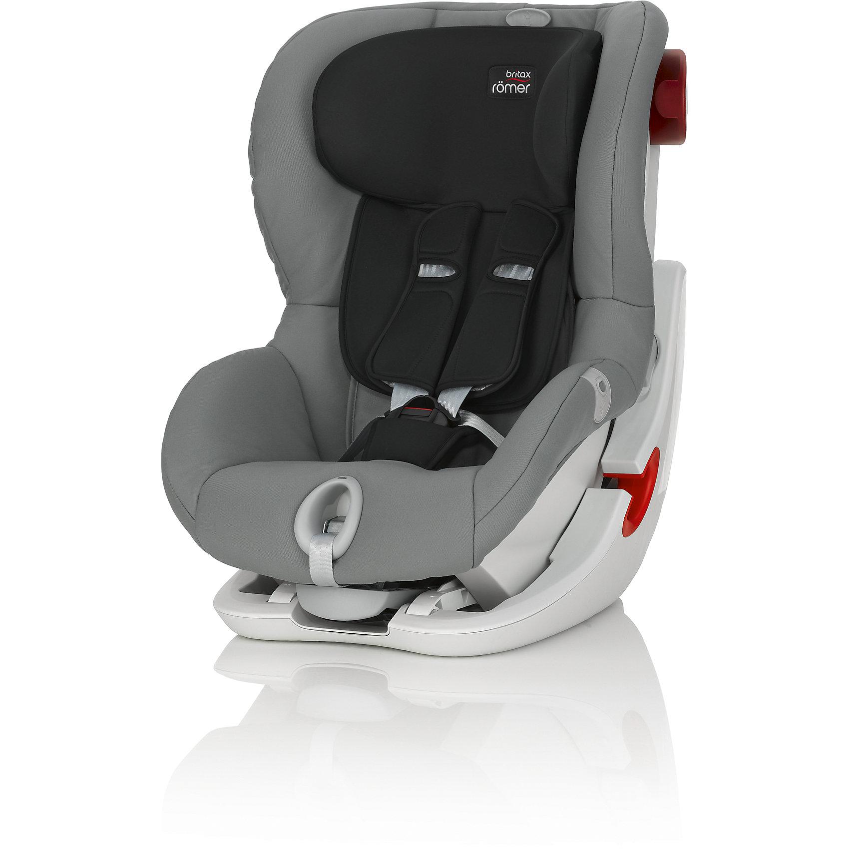 Автокресло Britax Romer KING II LS, 9-18 кг, Steel Grey TrendlineГруппа 1 (От 9 до 18 кг)<br>Автокресло King II LS оснащено уникальной системой световой индикации натяжения ремня безопасности и складывающимся вперед сиденьем для удобства установки. <br>- Установка в автомобиле с помощью штатного ремня безопасности<br>- Индикатор определяет уровень натяжения внутреннего ремня автокресла<br>- 5-точечные ремни безопасности, регулируемые одной рукой<br>- Угол наклона регулируется в 4-х положениях<br>- Система наклона кресла вперед обеспечивает улучшенный доступ и обзор при установке кресла в салоне автомобиля<br>- Глубокие мягкие боковины обеспечивают оптимальную защиту при боковых столкновениях<br>- Мягкие плечевые накладки на ремни для максимального комфорта<br>- Съемный моющийся чехол<br>- Батарейки включены в комплект поставки<br>- Размеры (Д / Ш / В): 54 х 45 х 67 см<br>- Размеры спинки сиденья (Д / Ш): 30 х 34 см<br>- Длина спинки: 55 см<br>- Вес: 10.3 кг<br><br>Автокресло KING II LS, 9-18 кг., BRITAX ROMER (Бритакс Ремер), Steel Grey Trendline можно купить в нашем магазине.<br><br>Ширина мм: 540<br>Глубина мм: 450<br>Высота мм: 680<br>Вес г: 10500<br>Цвет: черно-серый<br>Возраст от месяцев: 9<br>Возраст до месяцев: 48<br>Пол: Унисекс<br>Возраст: Детский<br>SKU: 4576179