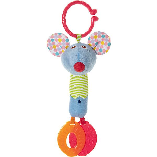 Погремушка для коляски Мышонок, CHICCOИгрушки для новорожденных<br>Погремушка для коляски Мышонок, CHICCO (ЧИКО) – это многофункциональная развивающая игрушка.<br>Погремушка для коляски Мышонок выполнена из мягкой ткани разной фактуры, у игрушки есть удобное крепление в виде широкого разомкнутого колечка для подвешивания ее к бортику кроватки или бамперу коляски, благодаря которому можно взять игрушку на прогулку. У мышонка забавная мордочка, в уши игрушки вставлены шуршащие элементы. К ножкам мышонка прикреплены прорезыватели, которые помогут малышу снять неприятные ощущения при появлении первых зубов. Яркая игрушка поможет развить у малыша мелкую моторику рук, звуковое и зрительное восприятие, тактильные ощущения, координацию движений, а милый жизнерадостный образ подарит малышу хорошее настроение.<br><br>Дополнительная информация:<br><br>- Материал: текстиль, пластик<br>- Размер упаковки: 188х142х70 мм.<br>- Вес: 75 гр.<br>- Уход: допускается машинная стирка игрушки при 30 градусах<br><br>Погремушку для коляски Мышонок, CHICCO (ЧИКО) можно купить в нашем интернет-магазине.<br><br>Ширина мм: 188<br>Глубина мм: 142<br>Высота мм: 70<br>Вес г: 75<br>Возраст от месяцев: 6<br>Возраст до месяцев: 36<br>Пол: Унисекс<br>Возраст: Детский<br>SKU: 4577222