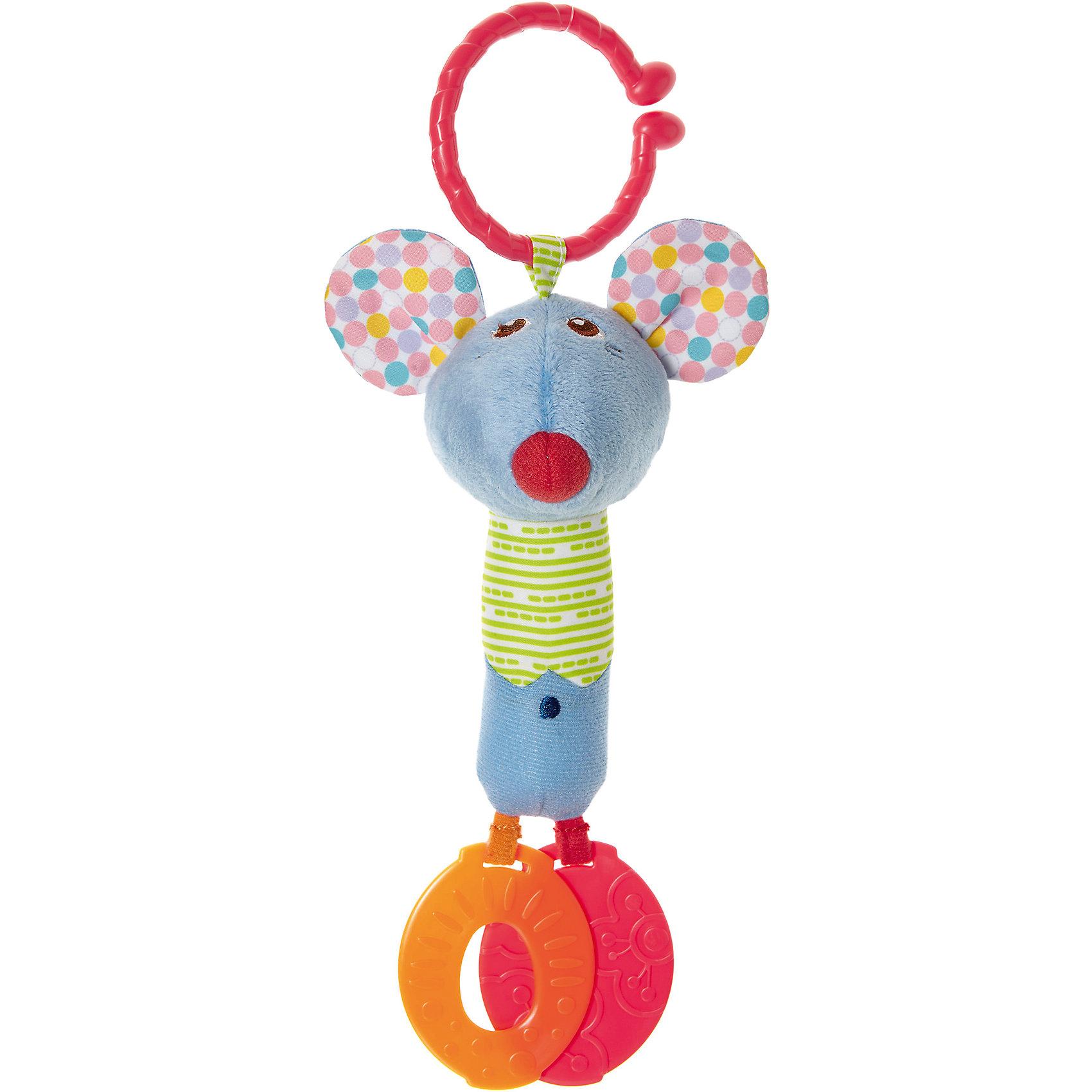 Погремушка для коляски Мышонок, CHICCOПодвески<br>Погремушка для коляски Мышонок, CHICCO (ЧИКО) – это многофункциональная развивающая игрушка.<br>Погремушка для коляски Мышонок выполнена из мягкой ткани разной фактуры, у игрушки есть удобное крепление в виде широкого разомкнутого колечка для подвешивания ее к бортику кроватки или бамперу коляски, благодаря которому можно взять игрушку на прогулку. У мышонка забавная мордочка, в уши игрушки вставлены шуршащие элементы. К ножкам мышонка прикреплены прорезыватели, которые помогут малышу снять неприятные ощущения при появлении первых зубов. Яркая игрушка поможет развить у малыша мелкую моторику рук, звуковое и зрительное восприятие, тактильные ощущения, координацию движений, а милый жизнерадостный образ подарит малышу хорошее настроение.<br><br>Дополнительная информация:<br><br>- Материал: текстиль, пластик<br>- Размер упаковки: 188х142х70 мм.<br>- Вес: 75 гр.<br>- Уход: допускается машинная стирка игрушки при 30 градусах<br><br>Погремушку для коляски Мышонок, CHICCO (ЧИКО) можно купить в нашем интернет-магазине.<br><br>Ширина мм: 188<br>Глубина мм: 142<br>Высота мм: 70<br>Вес г: 75<br>Возраст от месяцев: 6<br>Возраст до месяцев: 36<br>Пол: Унисекс<br>Возраст: Детский<br>SKU: 4577222