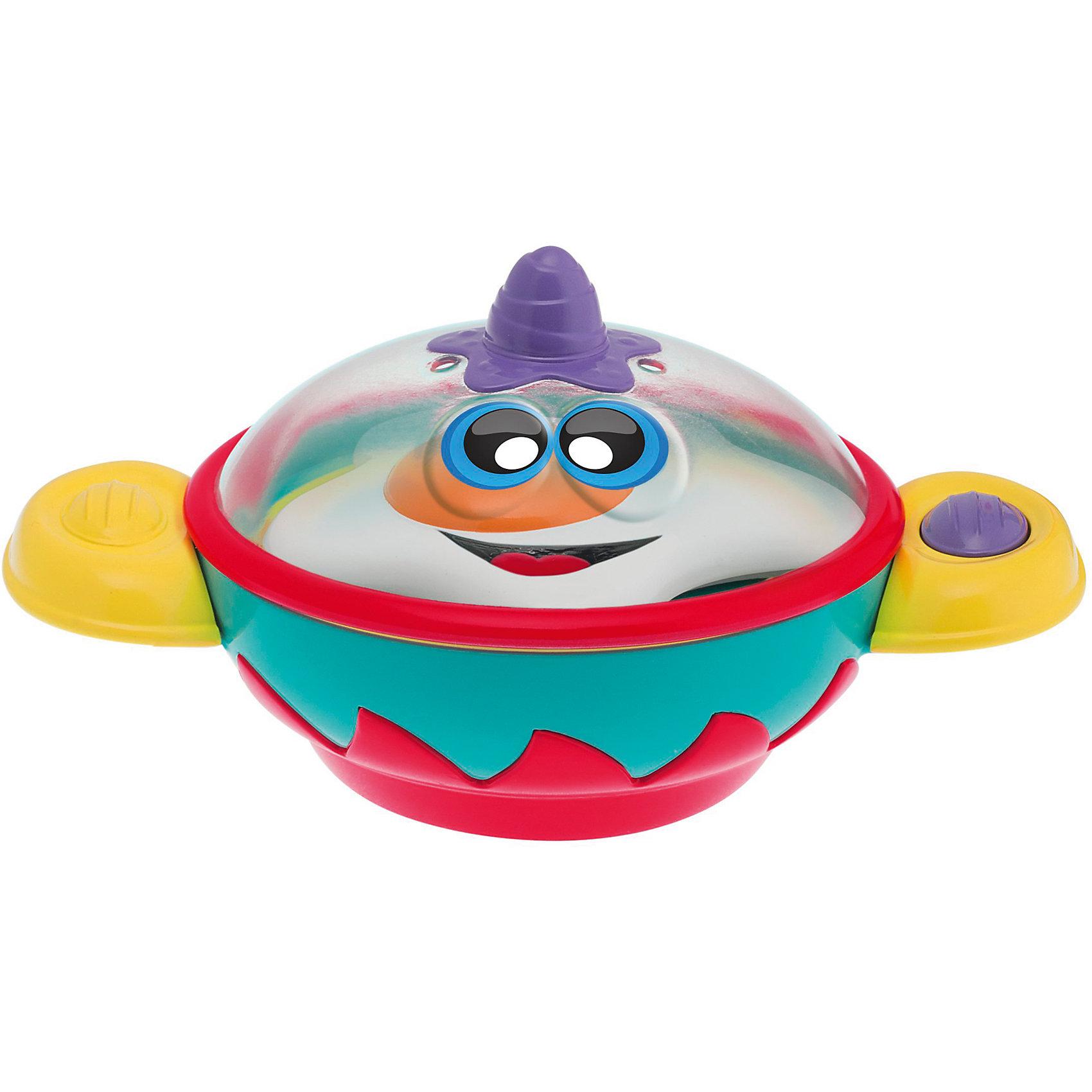 Музыкальная игрушка Кастрюлька, CHICCOМузыкальная игрушка Кастрюлька, CHICCO (ЧИКО) – эта игрушка позволит вашему малышу окунуться в мир кулинарии.<br>Поставьте игрушку на ровную поверхность, чтобы привести в действие звуковые и световые эффекты. Пусть малыш представит себя настоящим шеф-поваром. Откройте крышку кастрюльки, положите яичницу — вы услышите забавные звуки, как будто вы сами готовите это блюдо. Веселые мелодии и огоньки развеселят малыша, пока он будет готовить свое первое блюдо. Крышка кастрюльки снимается, и готовую яичницу можно выложить на игрушечную тарелку. Игрушка поможет вашему малышу почувствовать себя настоящим поваром и поиграть в ролевые игры, которые влияют на развитие у ребенка социализации, творческого мышления, ведь детям так нравится подражать взрослым!<br><br>Дополнительная информация:<br><br>- В наборе: кастрюлька, крышка, муляж яичницы<br>- Материал: пластик<br>- Размер: 17 x 9 x 10 см.<br>- Батарейки: 3 шт. LR44 1,5V(входят в комплект)<br><br>Музыкальную игрушку Кастрюлька, CHICCO (ЧИКО) можно купить в нашем интернет-магазине.<br><br>Ширина мм: 209<br>Глубина мм: 173<br>Высота мм: 90<br>Вес г: 250<br>Возраст от месяцев: 6<br>Возраст до месяцев: 36<br>Пол: Унисекс<br>Возраст: Детский<br>SKU: 4577223
