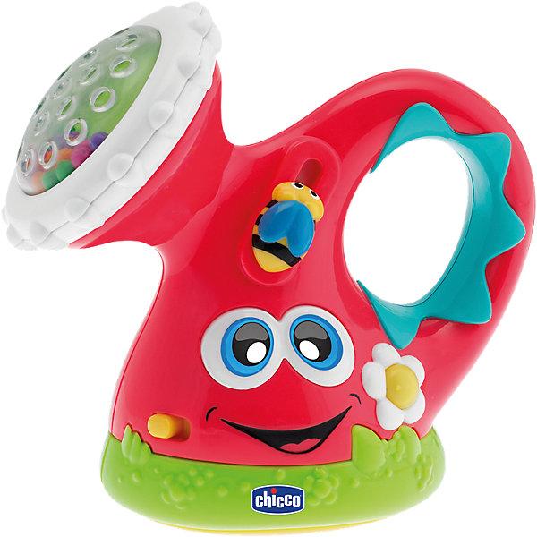 Музыкальная игрушка Лейка, CHICCOДругие музыкальные инструменты<br>Музыкальная игрушка Лейка, CHICCO (ЧИКО) – эта игрушка поможет вашему малышу почувствовать себя настоящим садовником!<br>Электронная игрушка со звуковыми и световыми эффектами позволит вашему малышу окунуться в мир садоводства. При нажатии на цветочек раздается веселая мелодия, и загораются разноцветные огоньки. Лейка имеет внутренний датчик движения, который реагирует на положение лейки, то есть, если малыш наклонит лейку, как будто он поливает цветы, то лейка заиграет веселые мелодии. Также на лейке очень много мелких и подвижных деталей, которые вращаются, трещат, малыш может трогать и перебирать их. Внутри рассеивателя лейки находятся мелкие разноцветные шарики, которые весело гремят при встряхивании лейки. Игрушка развивает мелкую моторику, координацию движений, слуховое восприятие, логическое мышление.<br><br>Дополнительная информация:<br><br>- Материал: пластик<br>- Размер: 8 х 19 х 7 см.<br>- Батарейки: 3 типа LR44 (входят в комплект)<br><br>Музыкальную игрушку Лейка, CHICCO (ЧИКО) можно купить в нашем интернет-магазине.<br>Ширина мм: 192; Глубина мм: 187; Высота мм: 81; Вес г: 255; Возраст от месяцев: 6; Возраст до месяцев: 36; Пол: Унисекс; Возраст: Детский; SKU: 4577225;
