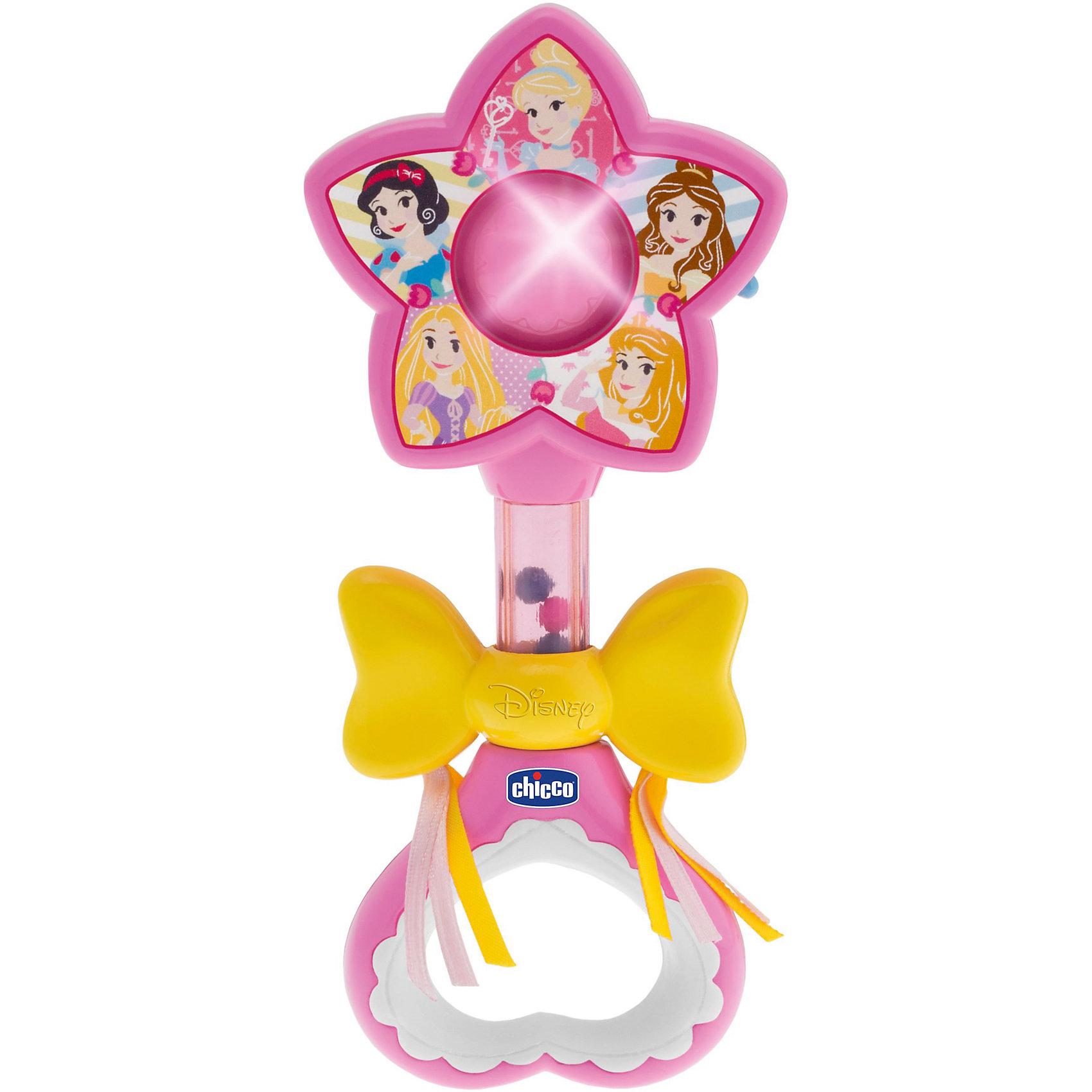 Волшебная палочка Принцесс, Disney,  CHICCOПринцессы Дисней<br>Волшебная палочка Принцесс, Disney,  CHICCO (ЧИКО) – это игрушка не оставит равнодушной вашу девочку.<br>Электронная волшебная палочка привлечет внимание вашей принцессы. Стоит только взмахнуть волшебной палочкой, она засветится, и заиграет приятная мелодия. Волшебная палочка украшена изображением Диснеевских принцесс и большим желтым бантом. Бант движется вверх и вниз, а внутри палочки пересыпаются разноцветные шарики.<br><br>Дополнительная информация:<br><br>- Датчик движения активирует мелодии и световые эффекты<br>- Материал: пластик<br>- Батарейки: 2 типа АА (не входят в комплект)<br>- Размер упаковки: 167х210х40 мм.<br>- Вес: 120 гр.<br><br>Волшебную палочку Принцесс, Disney,  CHICCO (ЧИКО) можно купить в нашем интернет-магазине.<br><br>Ширина мм: 167<br>Глубина мм: 210<br>Высота мм: 40<br>Вес г: 120<br>Возраст от месяцев: 3<br>Возраст до месяцев: 36<br>Пол: Унисекс<br>Возраст: Детский<br>SKU: 4577231