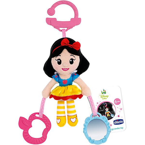 Игрушка для коляски Белоснежка, Disney, CHICCOИгрушки для новорожденных<br>Характеристики игрушки-подвески Disney:<br><br>• наличие карабина для подвешивания в коляску, кроватку или дугу развивающего коврика;<br>• наличие прорезывалеля в виде яблочка;<br>• наличие безопасного зеркальца;<br>• плюшевое тельце Белоснежки – для развития тактильного восприятия;<br>• рельефная поверхность прорезывателя – массаж десен;<br>• размер игрушки: 19х7х5 см;<br>• размер упаковки: 30х6х6 см;<br>• материал: текстиль, пластик.<br><br>Развивающая игрушка Chicco «Белоснежка» используется в качестве подвески в коляске или кроватки малышки. Предусмотрено наличие прорезывателя для массажирования десен во время прорезывания зубок, а также, имеется безопасное зеркальце, чтобы юная красавица могла любоваться своим отражением. Карабин надежно удерживает игрушку на перекладине кроватки или бампере коляски. <br><br>Игрушку для коляски Белоснежка, Disney, CHICCO можно купить в нашем интернет-магазине.<br><br>Ширина мм: 186<br>Глубина мм: 67<br>Высота мм: 257<br>Вес г: 350<br>Возраст от месяцев: 6<br>Возраст до месяцев: 36<br>Пол: Унисекс<br>Возраст: Детский<br>SKU: 4577233