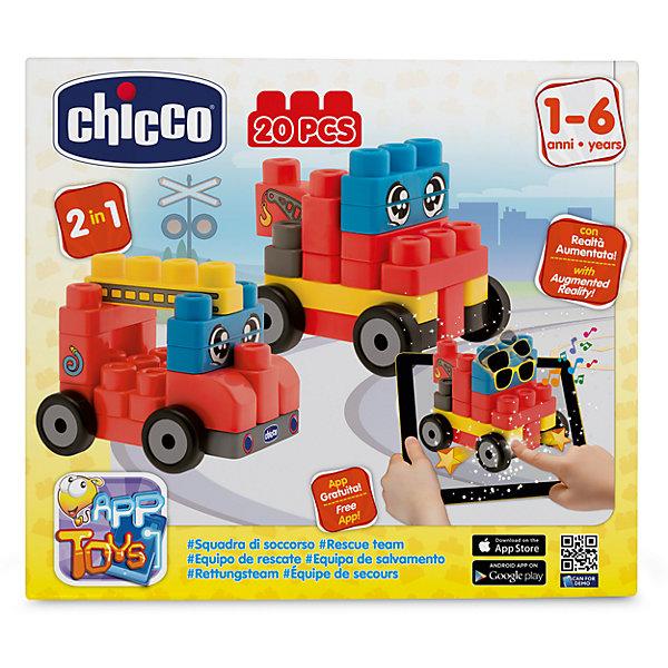 Набор строительных блоков Машины, 20шт, CHICCOПластмассовые конструкторы<br>Набор строительных блоков Машины, 20шт, CHICCO (ЧИКО) – это конструктор с которым виртуальность становится реальностью.<br>С набором строительных блоков Машины от Chicco (Чико) ребенок научится собирать забавные фигурки в виде двух различных пожарных машин. Игрушка помогает ребенку развивать мелкую моторику, логическое и образное мышление, а также фантазию и воображение! На этом волшебство этой игрушки не заканчивается! Скачайте бесплатное приложение в AppStore или GooglePlay и оживите собранную фигурку! Приложение подходит для планшетов и смартфонов. Направляя планшет на собранную фигурку, малыш увидит, как игрушка оживет, будет мило улыбаться ему с экрана, подмигивать и хлопать глазками, а нажимая на фигурку на экране планшета, малыш увидит, как она двигается и меняет свое положение! Набор изготовлен из высококачественного прочного и абсолютно безопасного пластика. Не содержит бисфенол-а.<br><br>Дополнительная информация:<br><br>- В наборе: 20 блоков<br>- Материал: пластик<br>- Размер упаковки: 250х70х280 мм.<br>- Вес: 438 гр.<br><br>Набор строительных блоков Машины, 20шт, CHICCO (ЧИКО) можно купить в нашем интернет-магазине.<br>Ширина мм: 250; Глубина мм: 70; Высота мм: 280; Вес г: 438; Возраст от месяцев: 12; Возраст до месяцев: 72; Пол: Унисекс; Возраст: Детский; SKU: 4577237;