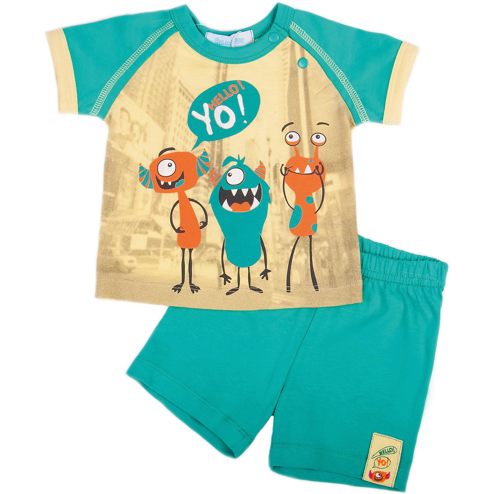 Комплект: футболка и шорты для мальчика БимошаКомплекты<br>Комплект: футболка и шорты для мальчика от марки Бимоша.<br>Джемпер украшен декоративной печатью.  Спинка джемпера и шорты однотонные.<br>Состав:<br>кулирная гладь 100%хлопок<br><br>Ширина мм: 199<br>Глубина мм: 10<br>Высота мм: 161<br>Вес г: 151<br>Цвет: зеленый<br>Возраст от месяцев: 3<br>Возраст до месяцев: 6<br>Пол: Мужской<br>Возраст: Детский<br>Размер: 68,62,80,92,86,74<br>SKU: 4578508