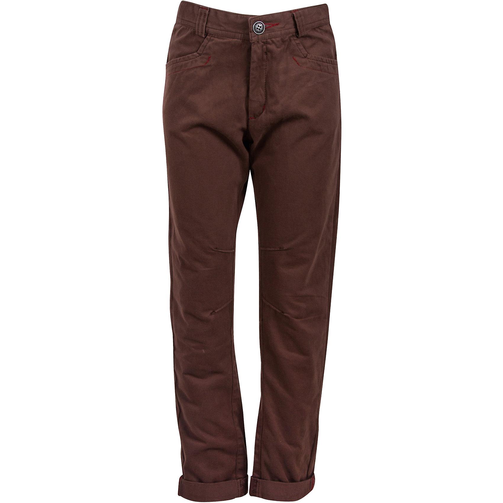 Брюки для мальчика Bell BimboБрюки<br>Брюки для мальчика от марки Bell Bimbo.<br>Однотонные брюки дополнены двумя боковыми карманами спереди, двумя накладными карманами сзади, застежка молния+пуговица,  шлёвки для ремня, манжеты<br>Состав:<br>Твил 100% хб<br><br>Ширина мм: 215<br>Глубина мм: 88<br>Высота мм: 191<br>Вес г: 336<br>Цвет: коричневый<br>Возраст от месяцев: 84<br>Возраст до месяцев: 96<br>Пол: Мужской<br>Возраст: Детский<br>Размер: 128,134,164,146,152,158,140<br>SKU: 4578569