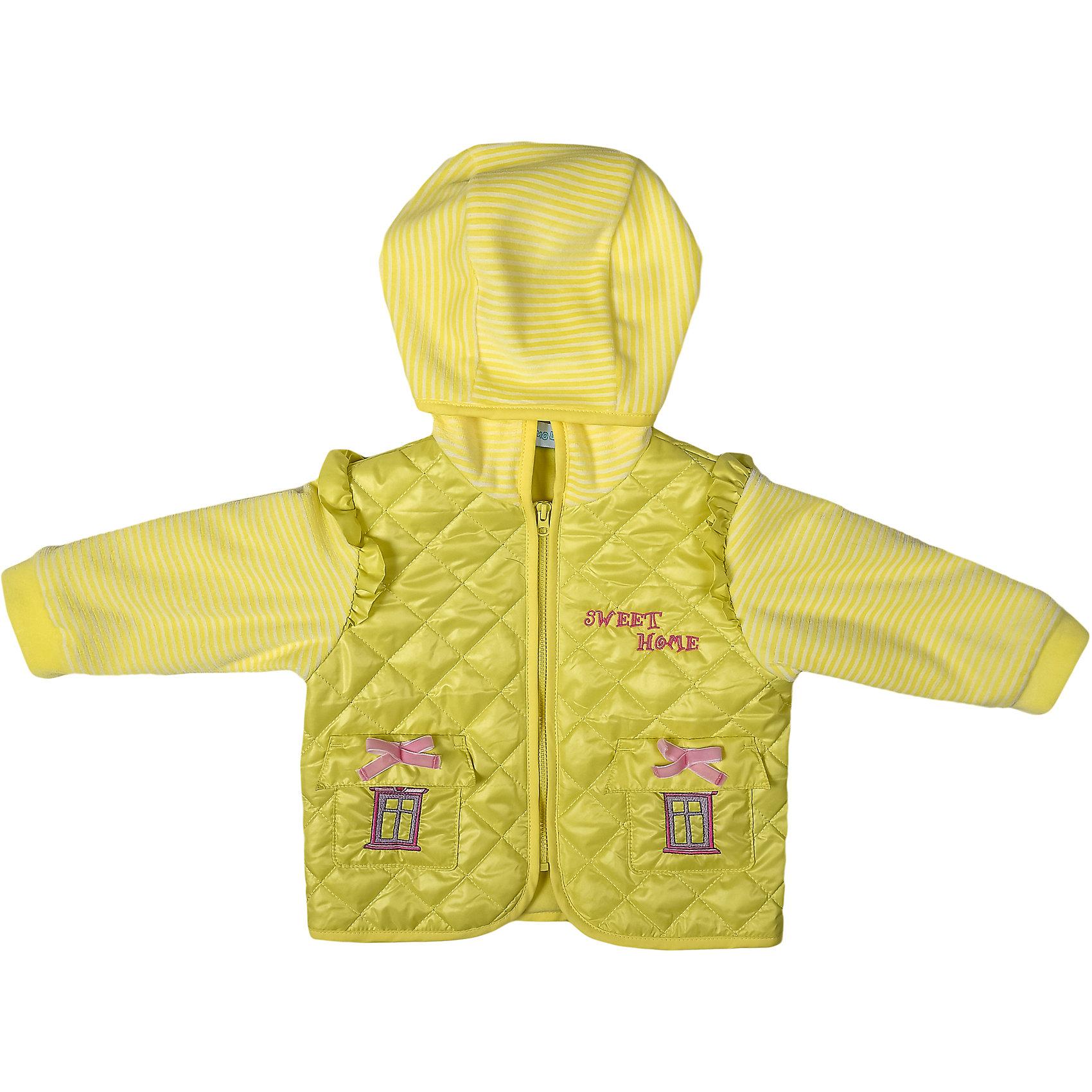 Куртка для девочки БимошаКуртка для девочки от марки Бимоша.<br>Куртка сочетает плащевую ткань и велюр. Модель дополнена капюшоном,  застежкой на молнии, двумя карманами, украшенными вышивкой.<br>Состав:<br>осн.ткань: плащевая Таффета 100% пэ                 подкладка: кулирная гладь хлопок 100%                                             утеплитель: синтепон 100%пэ                        отделка: трикотажное полотно: велюр 80% хлопок 20% пэ<br><br>Ширина мм: 356<br>Глубина мм: 10<br>Высота мм: 245<br>Вес г: 519<br>Цвет: желтый<br>Возраст от месяцев: 18<br>Возраст до месяцев: 24<br>Пол: Женский<br>Возраст: Детский<br>Размер: 92,86,80,74<br>SKU: 4578823