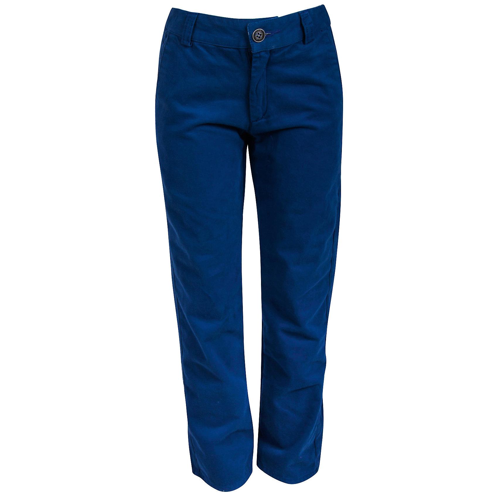 Брюки для мальчика Bell BimboБрюки для мальчика от марки Bell Bimbo.<br>Однотонные брюки дополнены двумя  карманами спереди, двумя  карманами сзади, застежка молния+пуговица,  шлёвки для ремня.<br>Состав:<br>твил 100% хлопок<br><br>Ширина мм: 215<br>Глубина мм: 88<br>Высота мм: 191<br>Вес г: 336<br>Цвет: синий<br>Возраст от месяцев: 24<br>Возраст до месяцев: 36<br>Пол: Мужской<br>Возраст: Детский<br>Размер: 98,122,116,110,104<br>SKU: 4578888