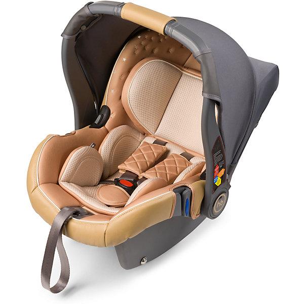 Автокресло Happy Baby Gelios V2, 0-13 кг, бежевыйГруппа 0+  (до 13 кг)<br>GELIOS V2 — автокресло-переноска группы 0+ (для детей с рождения до 13 кг). Данная модель обладает всеми необходимыми функциями для обеспечения безопасности: трехточечными ремнями безопасности, боковой защитой и прочным корпусом. Индикатор горизонтального положения поможет правильно установить автокресло-переноску в машине. Комфорт в дороге обеспечивает вкладыш для новорожденного, солнцезащитный козырек и чехол на ножки. Благодаря полукруглому основанию удобно укачивать малыша, в качестве же  ограничителя качания можно использовать ручку переноски, опустив ее вниз до упора. Мягкий дышащий вкладыш стоек к истиранию, прекрасно держит форму при сминании. Чехол прост в уходе, при необходимости легко снимается для чистки. Автокресло GELIOS V2 без дополнительных адаптеров крепится к основанию прогулочной коляски ULTRA, что позволяет перемещать малыша, не тревожа его чуткий сон. Автокресло крепится в автомобиле с помощью трехточечных штатных ремней безопасности и устанавливается лицом против хода движения автомобиля. Подарите вашему малышу уют, комфорт и безопасность вместе с многофункциональным автокреслом GELIOS V2.<br><br>Дополнительная информация:<br><br>Пятиточечные ремни безопасности<br>Трикотажный тент от солнца<br>Полукруглое дно позволяет использовать как качалку<br>Ручка-переноска может использоваться как ограничитель качания<br>Защита от боковых ударов<br>Фиксатор натяжения ремня<br>Съемный чехол<br>Мягкий вкладыш-матрасик<br>Подголовник регулируется по высоте, 6 положений<br>Ткань отлично держит форму, отличается особым блеском и мягкостью<br>В комплекте: чехол на ножки, трикотажный тент<br>СОСТАВ<br>Каркас: пластик, металл<br>Тканые материалы: 100 % полиэстер, 100% полиуретан<br>Внутри: пенополистирол<br>Группа: 0+<br>Вес ребенка: до 13 кг<br>Габариты автокресла (ВхШхГ): 69*43*56 см<br>Ширина посадочного места с вкладкой/без вкладки: 21/24 см<br>Длинна спального места с вкладкой/без вкла