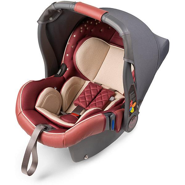 Автокресло Happy Baby Gelios V2, 0-13 кг, бордовыйГруппа 0+  (до 13 кг)<br>GELIOS V2 — автокресло-переноска группы 0+ (для детей с рождения до 13 кг). Данная модель обладает всеми необходимыми функциями для обеспечения безопасности: трехточечными ремнями безопасности, боковой защитой и прочным корпусом. Индикатор горизонтального положения поможет правильно установить автокресло-переноску в машине. Комфорт в дороге обеспечивает вкладыш для новорожденного, солнцезащитный козырек и чехол на ножки. Благодаря полукруглому основанию удобно укачивать малыша, в качестве же  ограничителя качания можно использовать ручку переноски, опустив ее вниз до упора. Мягкий дышащий вкладыш стоек к истиранию, прекрасно держит форму при сминании. Чехол прост в уходе, при необходимости легко снимается для чистки. Автокресло GELIOS V2 без дополнительных адаптеров крепится к основанию прогулочной коляски ULTRA, что позволяет перемещать малыша, не тревожа его чуткий сон. Автокресло крепится в автомобиле с помощью трехточечных штатных ремней безопасности и устанавливается лицом против хода движения автомобиля. Подарите вашему малышу уют, комфорт и безопасность вместе с многофункциональным автокреслом GELIOS V2.<br><br>Дополнительная информация:<br><br>Пятиточечные ремни безопасности<br>Трикотажный тент от солнца<br>Полукруглое дно позволяет использовать как качалку<br>Ручка-переноска может использоваться как ограничитель качания<br>Защита от боковых ударов<br>Фиксатор натяжения ремня<br>Съемный чехол<br>Мягкий вкладыш-матрасик<br>Подголовник регулируется по высоте, 6 положений<br>Ткань отлично держит форму, отличается особым блеском и мягкостью<br>В комплекте: чехол на ножки, трикотажный тент<br>СОСТАВ<br>Каркас: пластик, металл<br>Тканые материалы: 100 % полиэстер, 100% полиуретан<br>Внутри: пенополистирол<br>Группа: 0+<br>Вес ребенка: до 13 кг<br>Габариты автокресла (ВхШхГ): 69*43*56 см<br>Ширина посадочного места с вкладкой/без вкладки: 21/24 см<br>Длинна спального места с вкладкой/без вкл