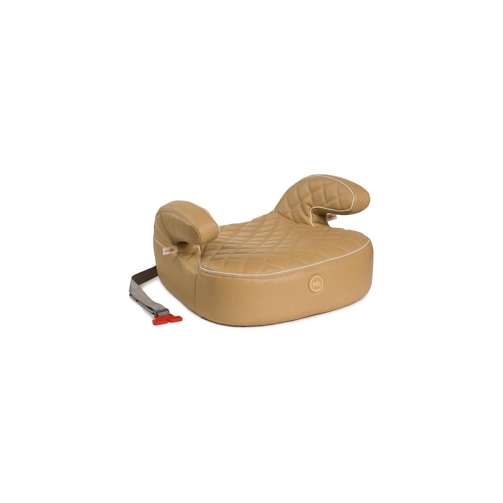Автокресло-бустер Happy Baby Rider Deluxe, 15-36 кг, бежевыйБустеры<br>Бустер без спинки с мягкими подлокотниками. Форма бустера RIDER<br>обеспечивает правильное положение в дороге, комфорт и максимальную<br>безопасность. Двойная стёжка придаёт особую мягкость и делает<br>сиденье уютным и комфортным для ребёнка. Материал бустера стоек<br>к истиранию, прекрасно держит форму при сминании.  Чехол из экокожи<br>прост в уходе, при необходимости легко снимается для стирки. Крепится<br>в автомобиле штатными трёхточечными ремнями безопасности. Бустер<br>устанавливается лицом по ходу движения автомобиля.<br><br>Дополнительная информация:<br><br>Позволяет полноценно пристегнуть ребенка штатным ремнем безопасности автомобиля<br>Съемный чехол из экокожи<br>СОСТАВ<br>Каркас: пенополипропилен<br>Тканые материалы: 100% полиэстер, 100% полиуретан<br>Вес ребенка: до 36 кг<br>Габариты автокресла (ВхШхГ): 22,5*42*42 см<br>Ширина посадочного места: 28 см<br>Глубина посадочного места: 40 см<br>Вес автокресла: 1,8 кг<br>Крепится штатным ремнем безопасности: да<br><br>Автокресло-бустер Rider Deluxe, 15-36 кг., Happy Baby, бежевый можно купить в нашем магазине.<br><br>Ширина мм: 370<br>Глубина мм: 520<br>Высота мм: 790<br>Вес г: 2275<br>Цвет: бежевый<br>Возраст от месяцев: 72<br>Возраст до месяцев: 144<br>Пол: Унисекс<br>Возраст: Детский<br>SKU: 4580586