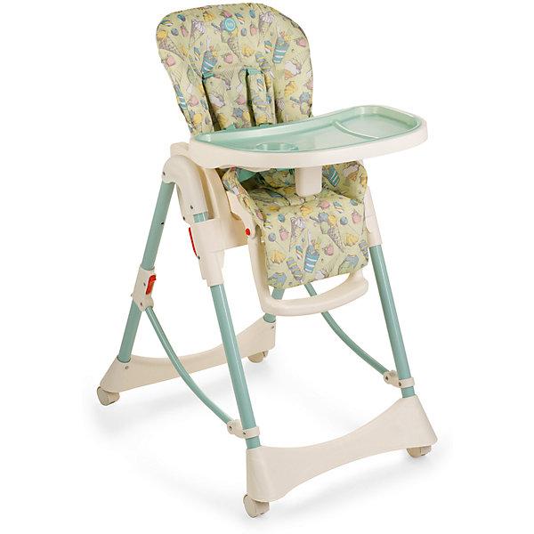 Стульчик для кормления Kevin V2, Happy Baby, зеленыйСтульчики для кормления<br>Предлагаем вашему вниманию стульчик для кормления KEVIN V2, который сохранил свои отличные характеристики модели KEVIN 2015 года, но при этом приобрел такую необходимую функцию горизонтального положения спинки, при которой малыш может находиться в стульчике лежа! Теперь малыш может не только принимать пищу, но и комфортно отдыхать рядом с вами. Стильный, благородный дизайн стульчика KEVIN V.2 с новой формой столешницы идеально подойдет для современных обеденных интерьеров. Благодаря многочисленным достоинствам стульчик станет незаменимым помощником молодым родителям, а малыши оценят его удобство. <br>Стульчик для кормления KEVIN v.2 представляет собой универсальную модель благодаря 6-ступенчатому регулированию по высоте и возможности изменять угол наклона спинки в 3-х положениях. Колеса позволяют легко перемещать стульчик, не оставляя следов на полу. Столешница регулируется в 3-х положениях по глубине и имеет съемный поднос. Благодаря съемной столешнице стульчик можно поставить к общему столу, и малыш будет обедать со всей семьей. Съемный чехол сиденья выполнен из материала с водоотталкивающими свойствами и легок в уходе. Пятиточечные ремни безопасности и подставка для ног регулируются в соответствии с ростом малыша. Стульчик компактно складывается. Приспособлен для хранения и транспортировки. <br><br>Дополнительная информация:<br><br>Максимальный вес ребенка: 25 кг<br>Габаритные размеры в разложенном виде (ДхШхВ): 97х56х105 см<br>Размеры в сложенном виде (ДхШхВ): 33х56х82 см<br>Положений по высоте: 6<br>Регулируемая столешница: 3 положения<br>Кол-во положений спинки: 3<br>Углы наклонов спинки: 102,4;  124,4;  146,4<br>Высота от пола до сиденья: 45-61 см<br>Глубина сиденья: 24 + 15 см (подножка) <br>Ширина сиденья: 30 см<br>Длина спального места: 90 см<br>Длина сиденья (самое откинутое положение от верха спинки до конца сиденья): 72 + 15 см (подножка) <br>Регулируемая подножка (3 положени