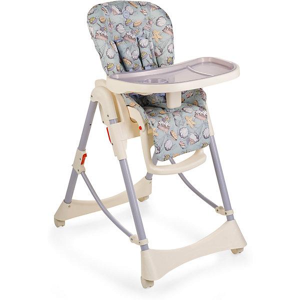 Стульчик для кормления Kevin V2, Happy Baby, серо-голубойСтульчики для кормления<br>Предлагаем вашему вниманию стульчик для кормления KEVIN V2, который сохранил свои отличные характеристики модели KEVIN 2015 года, но при этом приобрел такую необходимую функцию горизонтального положения спинки, при которой малыш может находиться в стульчике лежа! Теперь малыш может не только принимать пищу, но и комфортно отдыхать рядом с вами. Стильный, благородный дизайн стульчика KEVIN V.2 с новой формой столешницы идеально подойдет для современных обеденных интерьеров. Благодаря многочисленным достоинствам стульчик станет незаменимым помощником молодым родителям, а малыши оценят его удобство. <br>Стульчик для кормления KEVIN v.2 представляет собой универсальную модель благодаря 6-ступенчатому регулированию по высоте и возможности изменять угол наклона спинки в 3-х положениях. Колеса позволяют легко перемещать стульчик, не оставляя следов на полу. Столешница регулируется в 3-х положениях по глубине и имеет съемный поднос. Благодаря съемной столешнице стульчик можно поставить к общему столу, и малыш будет обедать со всей семьей. Съемный чехол сиденья выполнен из материала с водоотталкивающими свойствами и легок в уходе. Пятиточечные ремни безопасности и подставка для ног регулируются в соответствии с ростом малыша. Стульчик компактно складывается. Приспособлен для хранения и транспортировки. <br><br>Дополнительная информация:<br><br>Максимальный вес ребенка: 25 кг<br>Габаритные размеры в разложенном виде (ДхШхВ): 97х56х105 см<br>Размеры в сложенном виде (ДхШхВ): 33х56х82 см<br>Положений по высоте: 6<br>Регулируемая столешница: 3 положения<br>Кол-во положений спинки: 3<br>Углы наклонов спинки: 102,4;  124,4;  146,4<br>Высота от пола до сиденья: 45-61 см<br>Глубина сиденья: 24 + 15 см (подножка) <br>Ширина сиденья: 30 см<br>Длина спального места: 90 см<br>Длина сиденья (самое откинутое положение от верха спинки до конца сиденья): 72 + 15 см (подножка) <br>Регулируемая подножка (3 пол