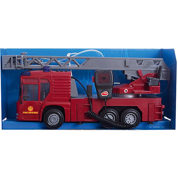 Пожарная машина, 43 см, DickieМашинки<br>В такой замечательной машиной ваш ребенок сможет почувствовать себя настоящим пожарным! Машина с подвижными колесами оснащена звуком  пожарной сирены и мигалками. Наверху располагается подвижная лестница с площадкой и брандспойтом, который имеет функцию разбрызгивания воды. Пожарная машина выполнена из высококачественного пластика, с применением экологичных нетоксичных красителей. <br><br>Дополнительная информация:<br><br>- Материал: пластик, металл.<br>- Размер: 43 см.<br>- Подвижные колеса.<br>- Подвижная пожарная вышка. <br>- Функция разбрызгивания воды.<br>- Световые, звуковые эффекты.<br>- Элемент питания: 3 АА батарейки (в комплекте).<br><br>Пожарную машину 43 см, Dickie (Дикки), можно купить в нашем магазине.<br><br>Ширина мм: 400<br>Глубина мм: 160<br>Высота мм: 200<br>Вес г: 1560<br>Возраст от месяцев: 36<br>Возраст до месяцев: 84<br>Пол: Мужской<br>Возраст: Детский<br>SKU: 4582754