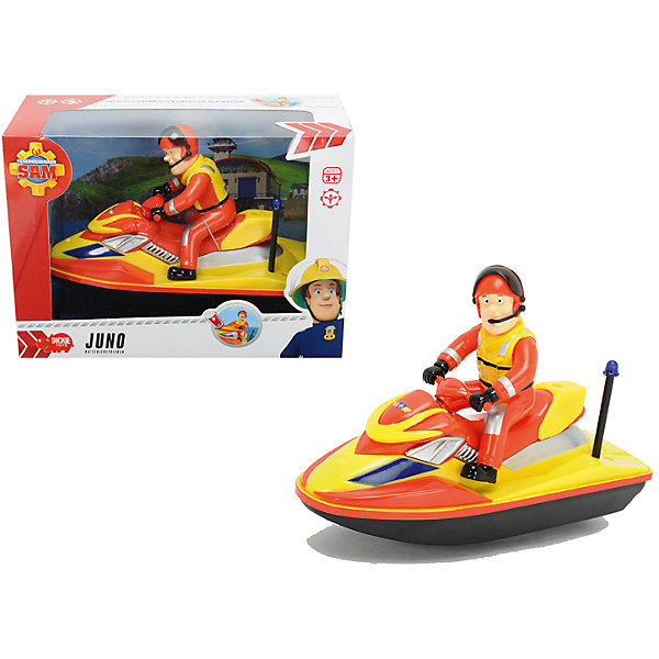 Водный скутер, 22см, Пожарный Сэм, DickieМашинки<br>Яркий скутер с отважным пожарным обязательно понравится детям! Скутер выполнен по сюжету популярного мультфильма «Пожарный Сэм», поэтому за рулем расположился главный герой в защитном костюме и в шлеме, дополненным наушником. Скутер приводится в движение нажатием кнопки на корпусе. Игрушка выполнена из прочных экологичных материалов, в производстве которых использованы нетоксичные, безопасные красители. <br><br>Дополнительная информация:<br><br>- Материал: пластик, металл.<br>- Размер: 22 см.<br>- Элемент питания: АА батарейки (в комплекте).<br><br>Водный скутер, 22см, Пожарный Сэм, Dickie (Дикки), можно купить в нашем магазине.<br><br>Ширина мм: 250<br>Глубина мм: 110<br>Высота мм: 180<br>Вес г: 2000<br>Возраст от месяцев: 36<br>Возраст до месяцев: 84<br>Пол: Мужской<br>Возраст: Детский<br>SKU: 4582758