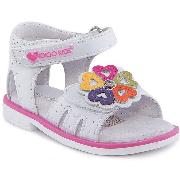 Сандалии для девочки Indigo kidsОбувь для девочек<br>Сандалии для девочки от известного бренда Indigo kids<br><br>Модные сандалии позволяют ножкам ребенка свободно дышать. Они легко надеваются и комфортно садятся по ноге. Оригинальный дизайн и качественное исполнение выделяют такую обувь из общего ряда новых моделей для этого сезона.<br><br>Особенности модели:<br><br>- цвет - белый;<br>- стильный дизайн;<br>- удобная колодка;<br>- кожаная стелька;<br>- украшены стразами и яркими деталями;<br>- устойчивая подошва;<br>- застежки: липучки.<br><br>Дополнительная информация:<br><br>Состав:<br><br>верх – искусственная кожа;<br>подкладка -   натуральная кожа;<br>подошва - ТЭП.<br><br>Сандалии для девочки Indigo kids (Индиго Кидс) можно купить в нашем магазине.<br>Ширина мм: 219; Глубина мм: 154; Высота мм: 121; Вес г: 343; Цвет: белый; Возраст от месяцев: 9; Возраст до месяцев: 12; Пол: Женский; Возраст: Детский; Размер: 20,25,21,22,23,24; SKU: 4582784;