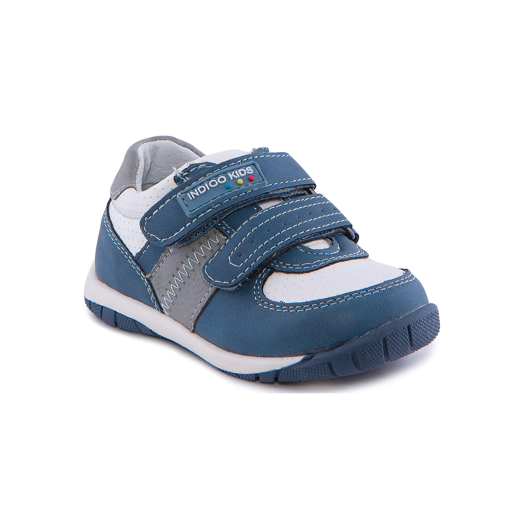 Кроссовки для мальчика Indigo kidsКроссовки для мальчика от известного бренда Indigo kids<br><br>Модные синие кроссовки позволяют ножкам ребенка свободно дышать. Они легко надеваются и комфортно садятся по ноге. Оригинальный дизайн и качественное исполнение выделяют такую обувь из общего ряда новых моделей для этого сезона.<br><br>Особенности модели:<br><br>- цвет - голубой;<br>- стильный дизайн;<br>- удобная колодка;<br>- декорированы контрастной прошивкой;<br>- кожаная подкладка;<br>- украшены логотипом;<br>- устойчивая подошва;<br>- дышащий материал;<br>- застежки: липучки.<br><br>Дополнительная информация:<br><br>Температурный режим:<br>от +10° С до +20° С<br><br>Состав:<br><br>верх – искусственная кожа;<br>подкладка -   натуральная кожа;<br>подошва - ТЭП.<br><br>Кроссовки для мальчика Indigo kids (Индиго Кидс) можно купить в нашем магазине.<br><br>Ширина мм: 262<br>Глубина мм: 176<br>Высота мм: 97<br>Вес г: 427<br>Цвет: голубой<br>Возраст от месяцев: 15<br>Возраст до месяцев: 18<br>Пол: Мужской<br>Возраст: Детский<br>Размер: 22,25,24,23,20,21<br>SKU: 4582805