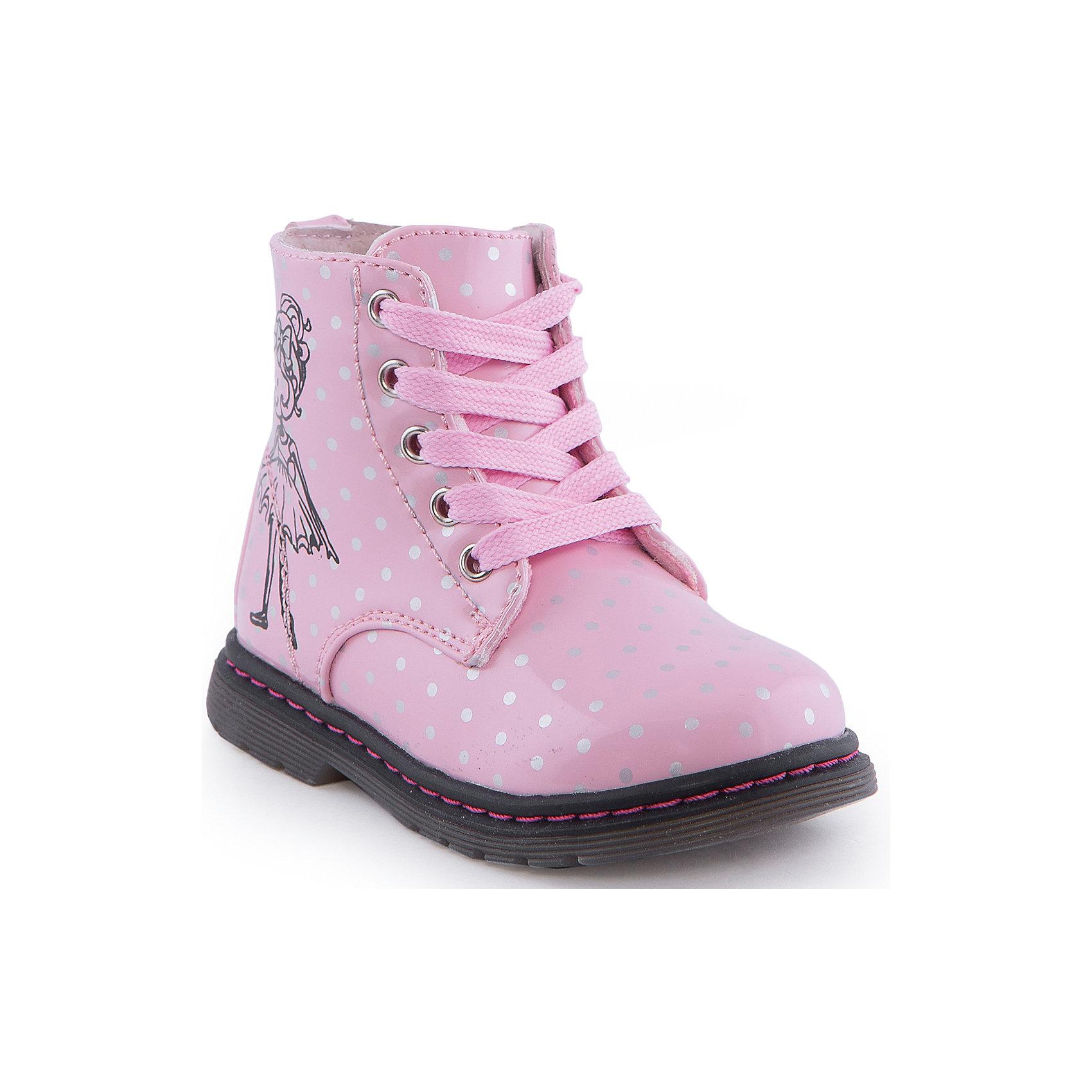 Ботинки для девочки Indigo kidsБотинки для девочки от известного бренда Indigo kids<br><br>Модные  высокие ботинки позволяют ножкам ребенка быть в тепле и сухости. Они легко надеваются и комфортно садятся по ноге. Оригинальный дизайн и качественное исполнение выделяют такую обувь из общего ряда новых моделей для этого сезона.<br><br>Особенности модели:<br><br>- цвет - белый;<br>- стильный дизайн;<br>- удобная колодка;<br>- подкладка-  байка;<br>- украшены принтом;<br>- устойчивая подошва;<br>- застежки: молния, шнуровка.<br><br>Дополнительная информация:<br><br>Температурный режим: от +5° С до +15° С<br><br>Состав:<br><br>верх – искусственная кожа;<br>подкладка -  байка;<br>подошва - ТЭП.<br><br>Ботинки для девочки Indigo kids (Индиго Кидс) можно купить в нашем магазине.<br><br>Ширина мм: 262<br>Глубина мм: 176<br>Высота мм: 97<br>Вес г: 427<br>Цвет: розовый<br>Возраст от месяцев: 18<br>Возраст до месяцев: 21<br>Пол: Женский<br>Возраст: Детский<br>Размер: 23,25,28,27,26,24<br>SKU: 4582812