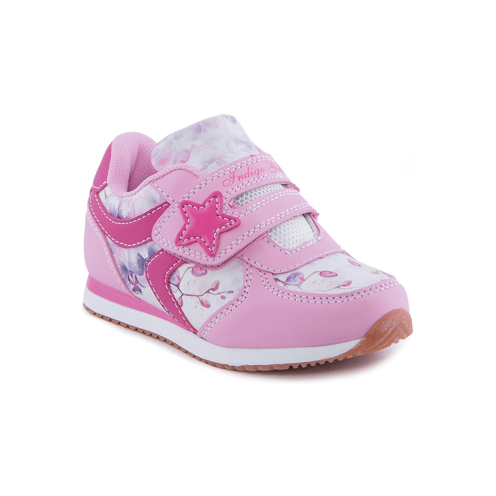 Кроссовки для девочки Indigo kidsКроссовки для девочки от известного бренда Indigo kids<br><br>Модные розовые кроссовки позволяют ножкам ребенка свободно дышать. Они легко надеваются и комфортно садятся по ноге. Оригинальный дизайн и качественное исполнение выделяют такую обувь из общего ряда новых моделей для этого сезона.<br><br>Особенности модели:<br><br>- цвет - розовый;<br>- стильный дизайн;<br>- удобная колодка;<br>- текстильная подкладка;<br>- украшены принтом;<br>- устойчивая подошва;<br>- дышащий материал;<br>- застежки: липучки.<br><br>Дополнительная информация:<br><br>Температурный режим:<br>от +10° С до +20° С<br><br>Состав:<br><br>верх – искусственная кожа/текстиль;<br>подкладка - текстиль;<br>подошва - ТЭП.<br><br>Кроссовки для девочки Indigo kids (Индиго Кидс) можно купить в нашем магазине.<br><br>Ширина мм: 262<br>Глубина мм: 176<br>Высота мм: 97<br>Вес г: 427<br>Цвет: розовый<br>Возраст от месяцев: 24<br>Возраст до месяцев: 36<br>Пол: Женский<br>Возраст: Детский<br>Размер: 26,28,30,29,27,25<br>SKU: 4582827