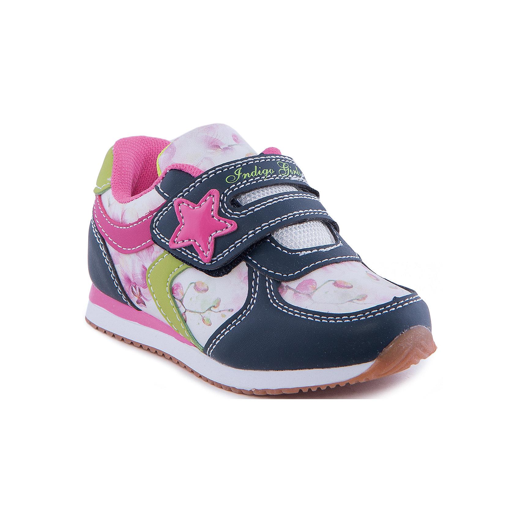 Indigo kids Кроссовки для девочки Indigo kids indigo kids обувь официальный сайт