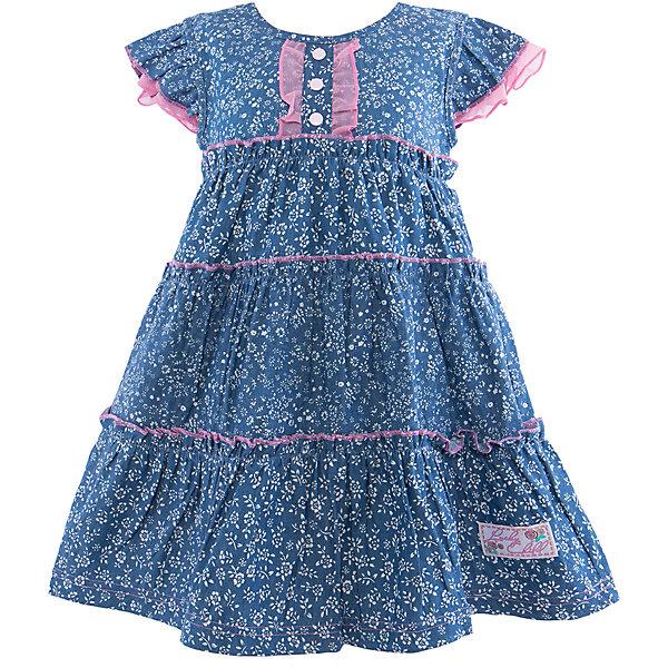 Платье для девочки Lucky ChildПлатья и сарафаны<br>Платье для девочки Lucky Child<br>Летнее платье из джинсового полотна в мелкий цветочек практичное и стильное. Пополните им гардероб девочки, и вам не придется выбирать между красотой и удобством.<br>Состав : 100% хлопок<br>Ширина мм: 157; Глубина мм: 13; Высота мм: 119; Вес г: 200; Цвет: синий; Возраст от месяцев: -2147483648; Возраст до месяцев: 2147483647; Пол: Женский; Возраст: Детский; Размер: 86/92,116/122,128/134,92/98,98/104,122/128,104/110,110/116; SKU: 4585139;