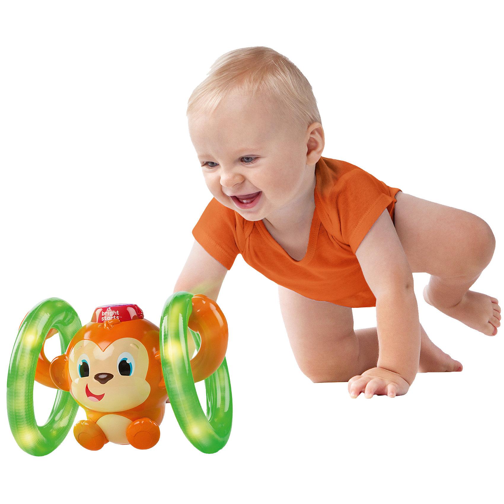Kids II Развивающая игрушка «Обезьянка на кольцах», Bright Starts мягкие игрушки amico развивающая игрушка обезьянка