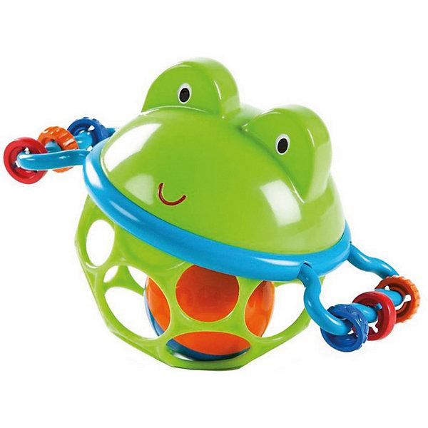 Развивающая игрушка-мяч «Лягушонок», OballИгрушки для новорожденных<br>Характеристики игрушки:<br><br>• Предназначение: для развивающих и обучающих занятий<br>• Пол: универсальный<br>• Цвет: синий, зеленый, красный<br>• Материал: пластик<br>• Вес: 160 гр.<br>• Размеры (Д*Ш*В): 14,6*9,5*10,9 см<br><br>Развивающая игрушка-мяч «Лягушонок», Oball предназначена для самых маленьких детей. Погремушка от Oball выполнена с учетом психо-физиологических особенностей младенческого возраста: она легкая, выполнена в форме шара, внутри имеется шарик погремушка, выполнена в ярких цветах. Материал, из которого изготовлена игрушка отвечает всем международным стандартам качества и безопасности. Внутри шара имеется яркий мячик погремушка, по бокам шара – ручки с нанизанными на них элементами разной фактуры. <br><br>Развивающая игрушка-мяч «Лягушонок», Oball обеспечит не только увлекательный досуг вашему ребенку, но и позволит развивать у него слуховое и зрительное восприятие, мелкую моторику рук, координацию движений. <br><br>Развивающую игрушку-мяч «Лягушонок», Oball можно купить в нашем интернет-магазине.<br><br>Подробнее:<br>Для детей в возрасте: от 0 месяцев до 2 лет<br>Номер товара: 4585933<br>Страна производитель: Китай<br>Ширина мм: 186; Глубина мм: 149; Высота мм: 93; Вес г: 97; Возраст от месяцев: 0; Возраст до месяцев: 12; Пол: Унисекс; Возраст: Детский; SKU: 4585933;