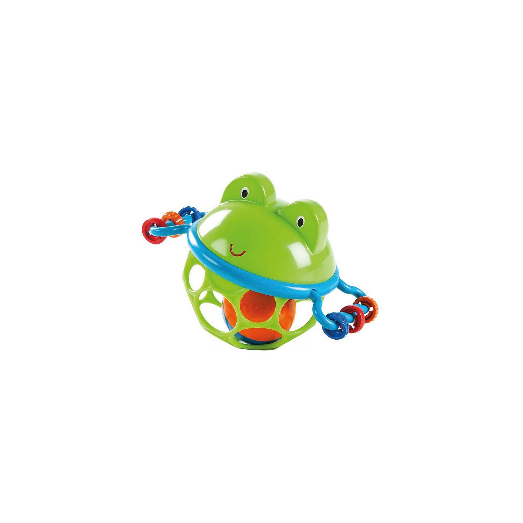 Развивающая игрушка-мяч «Лягушонок», OballРазвивающие игрушки<br>Характеристики игрушки:<br><br>• Предназначение: для развивающих и обучающих занятий<br>• Пол: универсальный<br>• Цвет: синий, зеленый, красный<br>• Материал: пластик<br>• Вес: 160 гр.<br>• Размеры (Д*Ш*В): 14,6*9,5*10,9 см<br><br>Развивающая игрушка-мяч «Лягушонок», Oball предназначена для самых маленьких детей. Погремушка от Oball выполнена с учетом психо-физиологических особенностей младенческого возраста: она легкая, выполнена в форме шара, внутри имеется шарик погремушка, выполнена в ярких цветах. Материал, из которого изготовлена игрушка отвечает всем международным стандартам качества и безопасности. Внутри шара имеется яркий мячик погремушка, по бокам шара – ручки с нанизанными на них элементами разной фактуры. <br><br>Развивающая игрушка-мяч «Лягушонок», Oball обеспечит не только увлекательный досуг вашему ребенку, но и позволит развивать у него слуховое и зрительное восприятие, мелкую моторику рук, координацию движений. <br><br>Развивающую игрушку-мяч «Лягушонок», Oball можно купить в нашем интернет-магазине.<br><br>Подробнее:<br>Для детей в возрасте: от 0 месяцев до 2 лет<br>Номер товара: 4585933<br>Страна производитель: Китай<br><br>Ширина мм: 158<br>Глубина мм: 144<br>Высота мм: 71<br>Вес г: 100<br>Возраст от месяцев: 0<br>Возраст до месяцев: 12<br>Пол: Унисекс<br>Возраст: Детский<br>SKU: 4585933