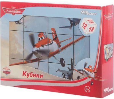 Степ Пазл Кубики Самолеты , 12 шт, Step Puzzle