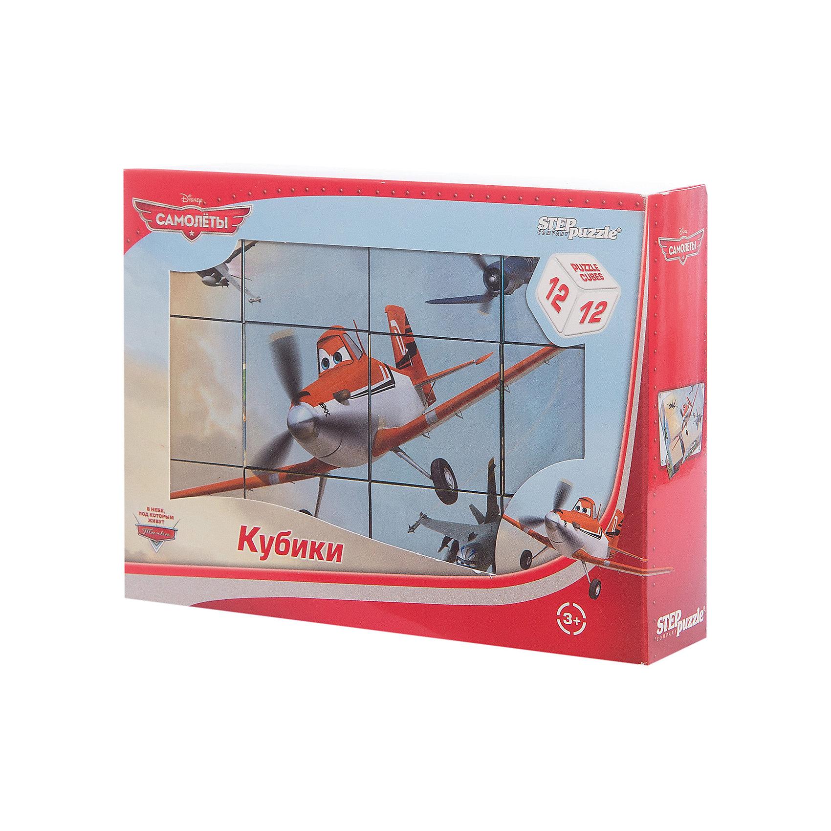 Кубики Самолеты, 12 шт, Step PuzzleКубики Самолеты, 12 шт, Step Puzzle (Степ Пазл) - это кубики с яркими запоминающимися картинками.<br>Красочный набор кубиков с изображением персонажей популярного мультфильма Disney Самолёты предназначен для развития логики, внимания и мышления у детей младшего возраста. Кубики изготовлены из легкого прочного пластика. Яркие, сочные картинки, наклеенные на пластик, хорошо держатся, рисунки глянцевые. Наборы из 12 кубиков – для тех, кто освоил навык сборки картинки из 9 кубиков. Заложенный дидактический принцип «от простого к сложному» позволит ребёнку поверить в свои силы.<br><br>Дополнительная информация:<br><br>- В наборе: 12 кубиков<br>- Сторона кубика: 4 см.<br>- Размер готовой картинки: 12х16 см.<br>- Материал: пластик, картон<br>- Упаковка: картонная коробка<br>- Размер упаковки: 160x40x120 мм.<br>- Вес: 400 гр.<br><br>Кубики Самолеты, 12 шт, Step Puzzle (Степ Пазл) можно купить в нашем интернет-магазине.<br><br>Ширина мм: 160<br>Глубина мм: 40<br>Высота мм: 120<br>Вес г: 400<br>Возраст от месяцев: 36<br>Возраст до месяцев: 84<br>Пол: Унисекс<br>Возраст: Детский<br>SKU: 4588234
