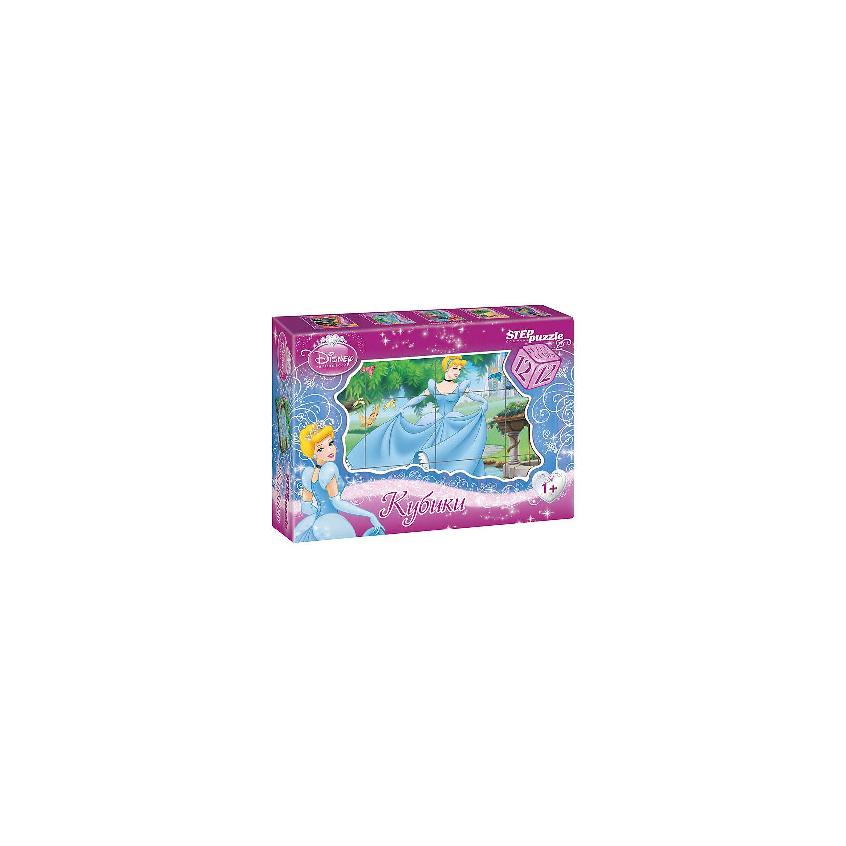 Кубики Золушка, 12шт, Step PuzzleКубики<br>Кубики Золушка, 12шт, Step Puzzle (Степ Пазл) - это кубики с яркими запоминающимися картинками.<br>Красочный набор кубиков с иллюстрациями к мультсериалу Disney Золушка предназначен для развития логики, зрительной памяти и внимания у детей младшего возраста. Из 12 кубиков можно составить 6 разных сюжетов из любимого мультфильма. Кубики изготовлены из легкого прочного пластика. Яркие, сочные картинки, наклеенные на пластик, хорошо держатся, рисунки глянцевые. Наборы из 12 кубиков – для тех, кто освоил навык сборки картинки из 9 кубиков. Заложенный дидактический принцип «от простого к сложному» позволит ребёнку поверить в свои силы.<br><br>Дополнительная информация:<br><br>- В наборе: 12 кубиков<br>- Сторона кубика: 4 см.<br>- Размер готовой картинки: 12х16 см.<br>- Материал: пластик, картон<br>- Упаковка: картонная коробка<br>- Размер упаковки: 160x40x120 мм.<br>- Вес: 400 гр.<br><br>Кубики Золушка, 12шт, Step Puzzle (Степ Пазл) можно купить в нашем интернет-магазине.<br><br>Ширина мм: 160<br>Глубина мм: 40<br>Высота мм: 120<br>Вес г: 400<br>Возраст от месяцев: 36<br>Возраст до месяцев: 84<br>Пол: Унисекс<br>Возраст: Детский<br>SKU: 4588238