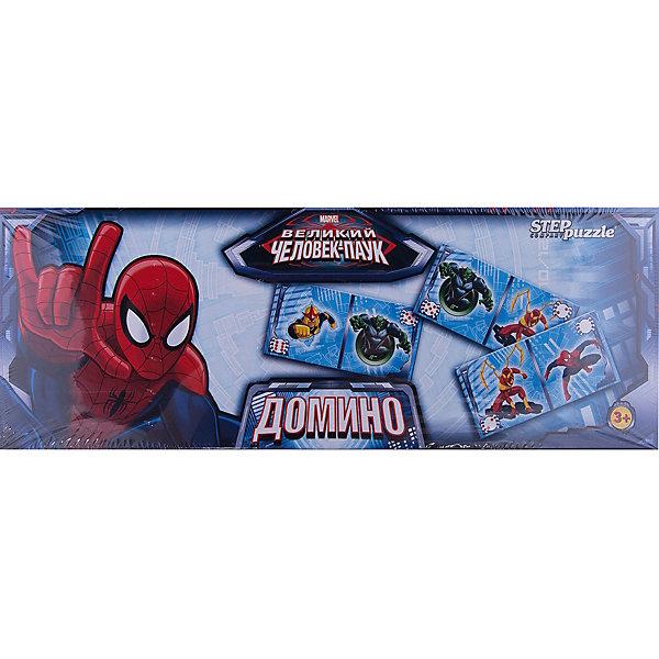 Домино Человек-паук, Step PuzzleДомино<br>Домино Человек-паук, Step Puzzle (Степ Пазл) – это классическая, всем известная игра с любимыми героями, в которую можно играть всей семьей.<br>Домино «Человек-паук» станет хорошим подарком для вашего ребенка. Герои MARVEL, изображенные на качественных картонных карточках, увлекут малыша в веселый процесс игры. Домино формирует навыки аналитического мышления, сосредоточенность, логику, память и внимание.<br><br>Дополнительная информация:<br><br>- В комплекте: 28 карточек с любимыми героями MARVEL, правила игры<br>- Материал: картон<br>- Количество игроков: от 2 до 4 человек<br>- Упаковка: картонная коробка<br>- Размер упаковки: 360x35x125 мм.<br><br>Домино Человек-паук, Step Puzzle (Степ Пазл) можно купить в нашем интернет-магазине.<br><br>Ширина мм: 360<br>Глубина мм: 35<br>Высота мм: 125<br>Вес г: 400<br>Возраст от месяцев: 36<br>Возраст до месяцев: 84<br>Пол: Унисекс<br>Возраст: Детский<br>SKU: 4588249